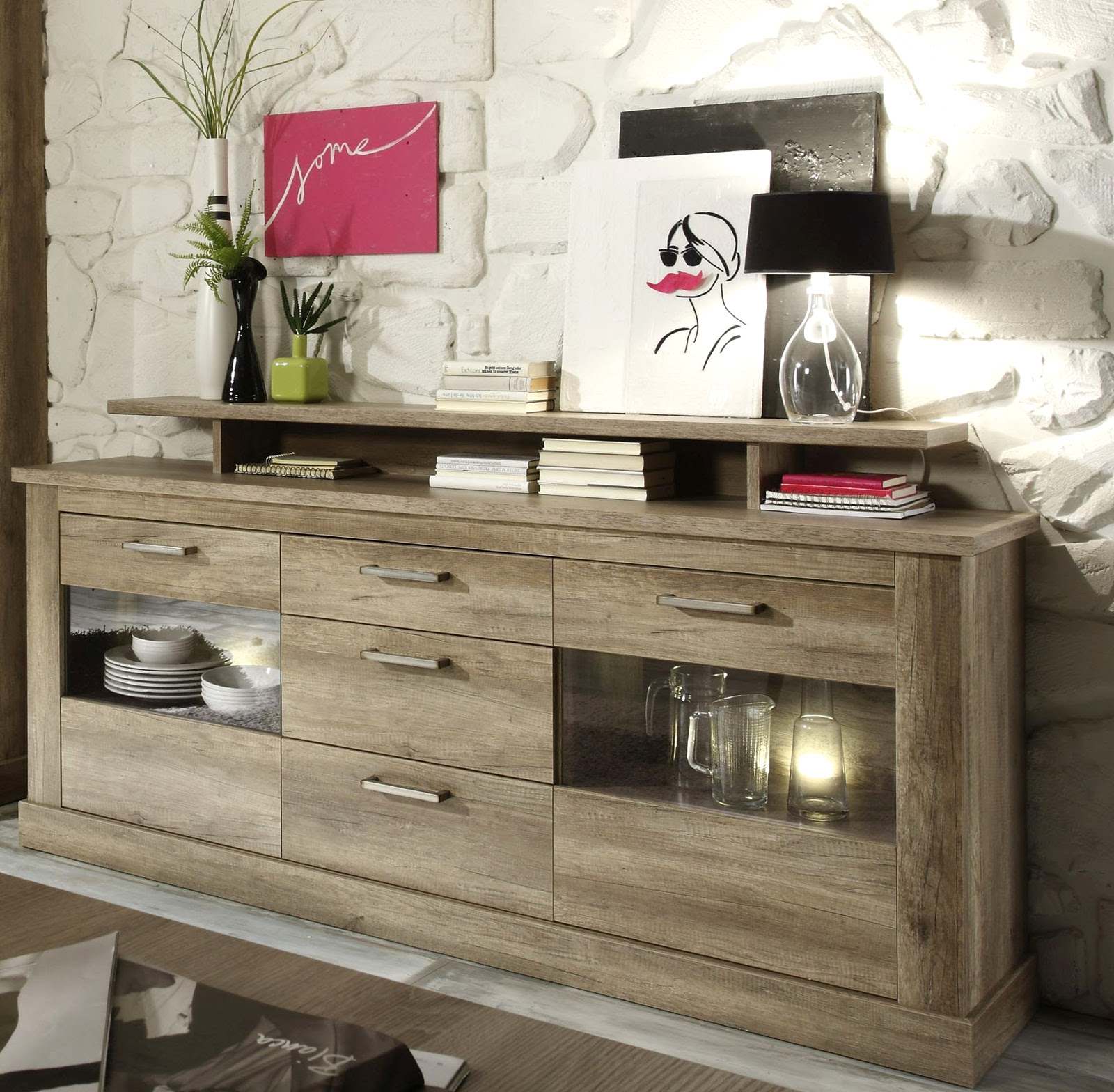 wohnwand b cherregal bibliothek schrankwand lack weiss. Black Bedroom Furniture Sets. Home Design Ideas