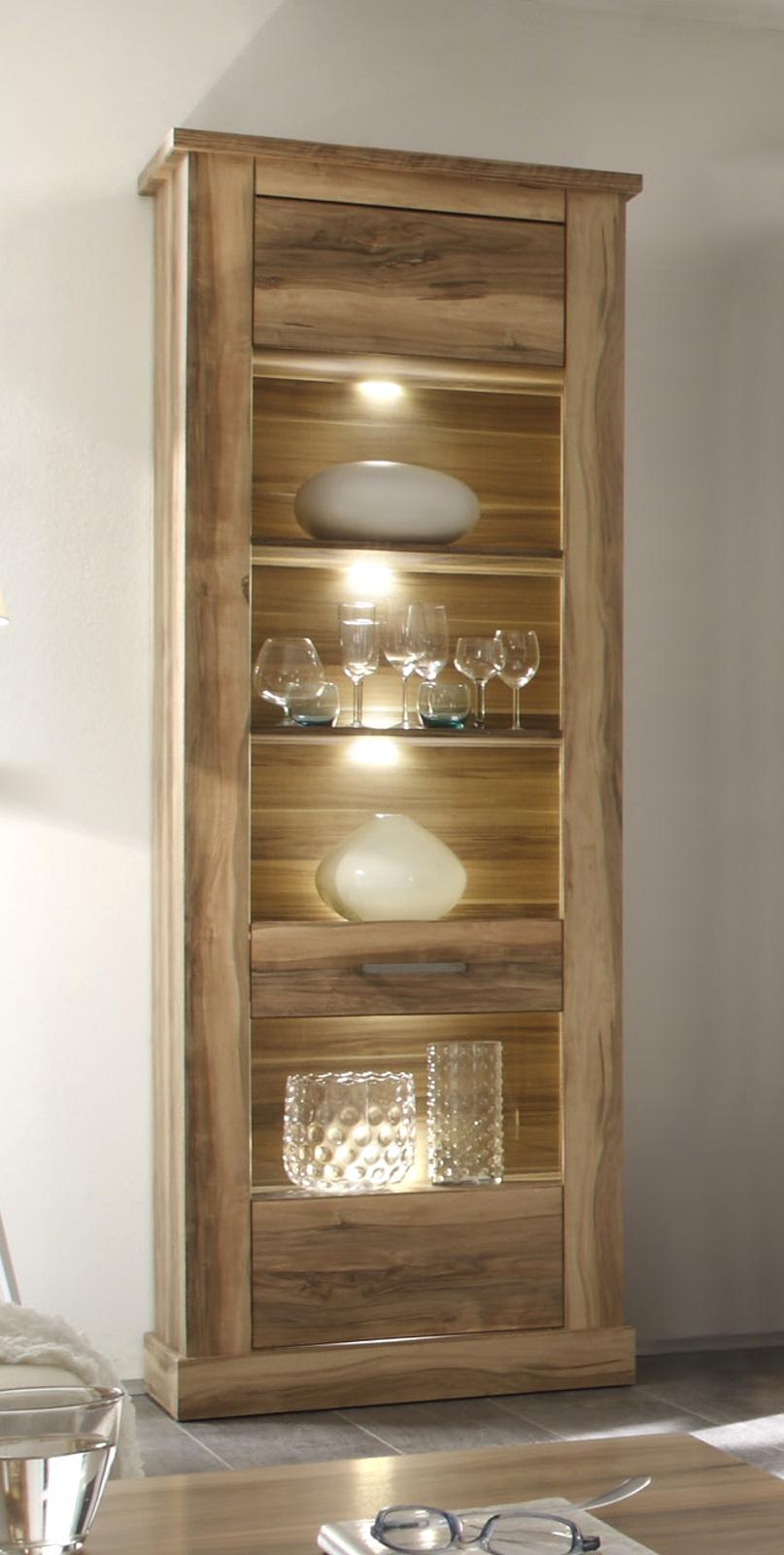 wohnwand montreal in nussbaum satin. Black Bedroom Furniture Sets. Home Design Ideas