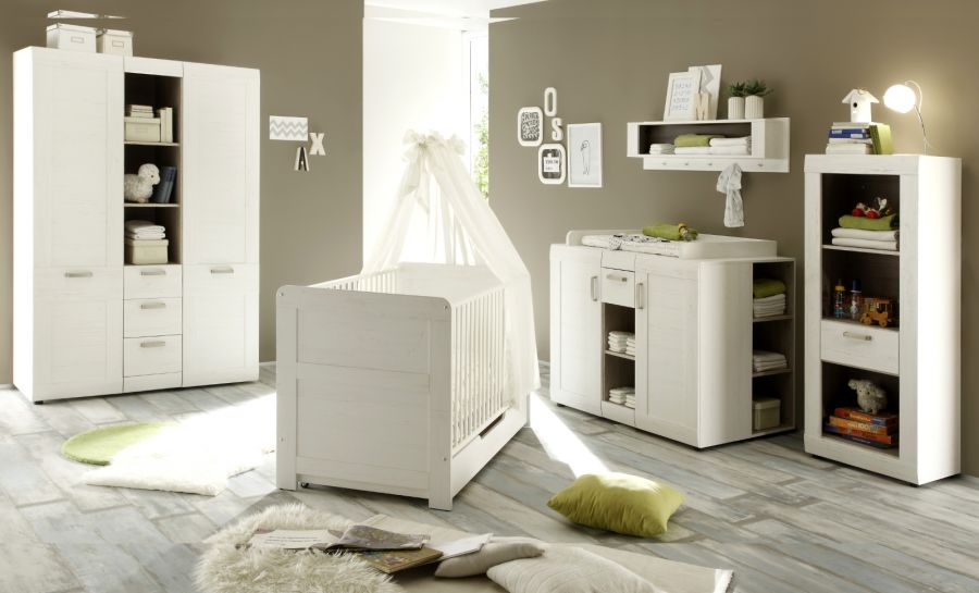 babyzimmer babybett und wickelkommode landi. Black Bedroom Furniture Sets. Home Design Ideas
