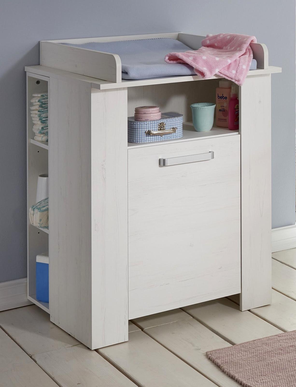 Babyzimmer Komplett Set Miri Weiß Pinie 3   6 Teilig Mit Kleiderschrank 130  Cm