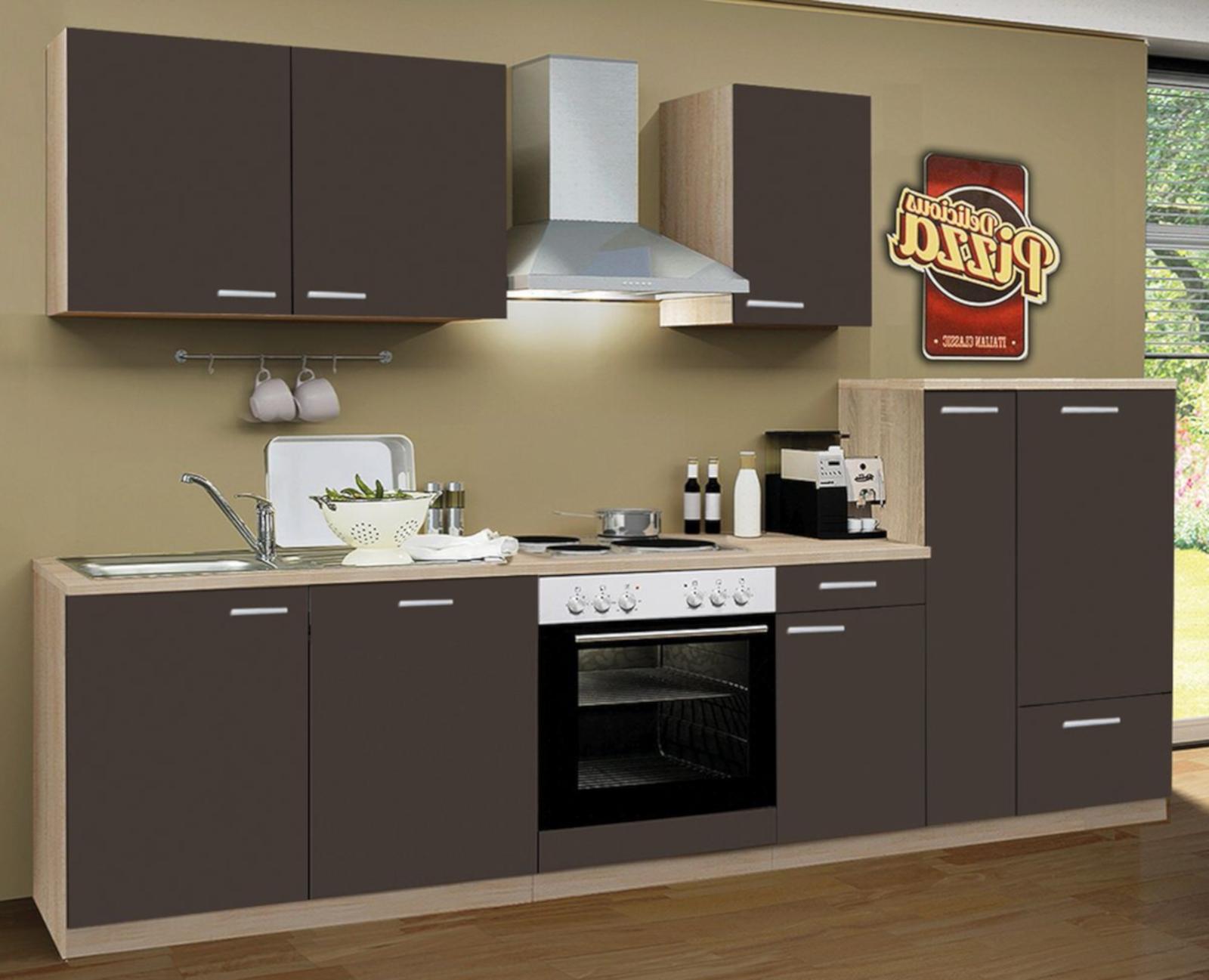 einbauk che grau 300cm e ger te geschirrsp hler. Black Bedroom Furniture Sets. Home Design Ideas