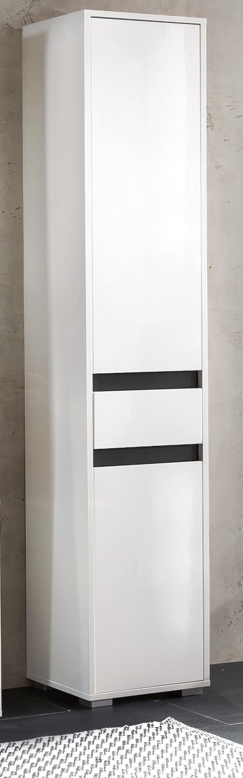 badezimmer hochschrank sol hochglanz wei. Black Bedroom Furniture Sets. Home Design Ideas