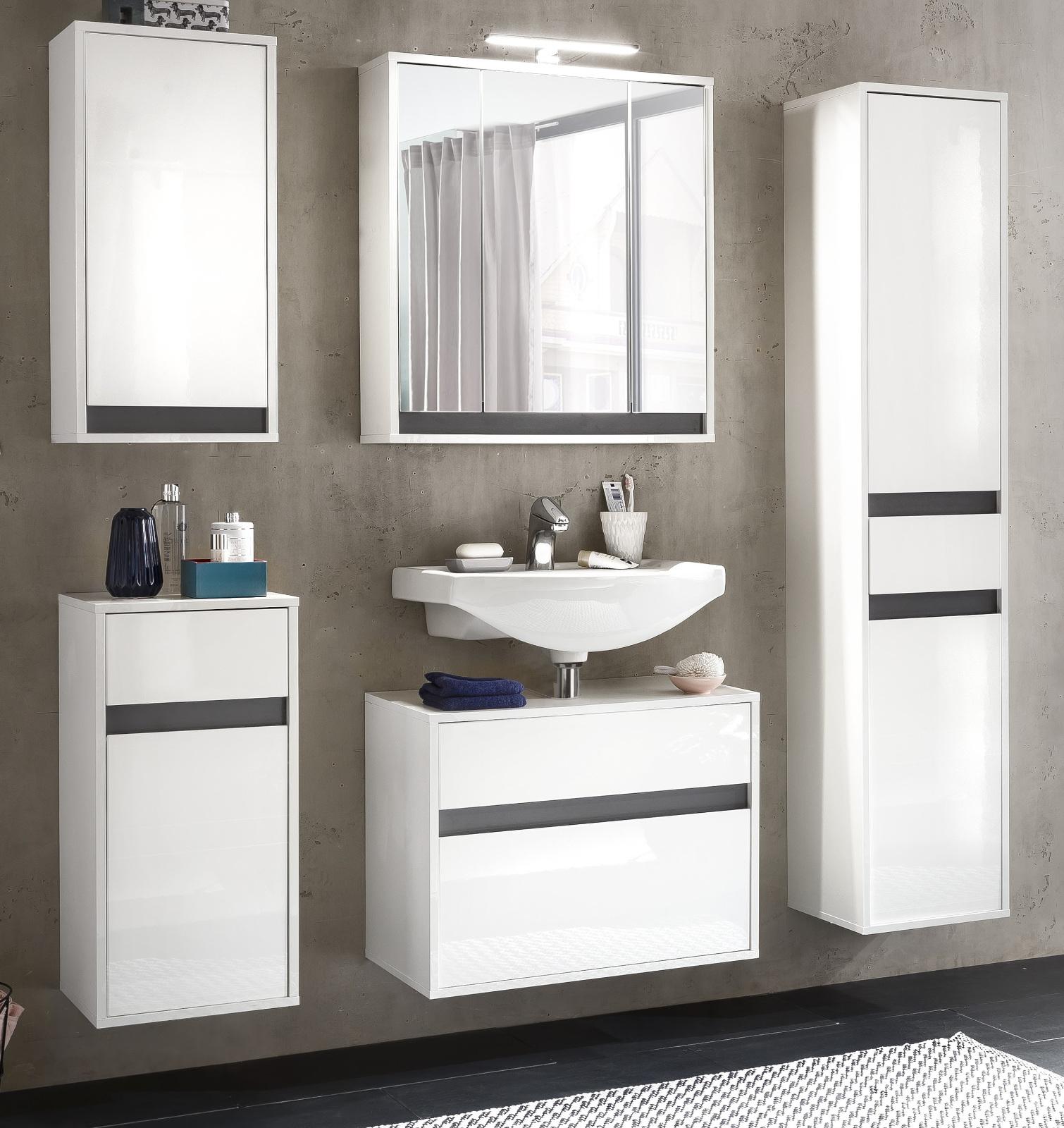 hochschrank h ngeschrank sol lack hochglanz wei. Black Bedroom Furniture Sets. Home Design Ideas