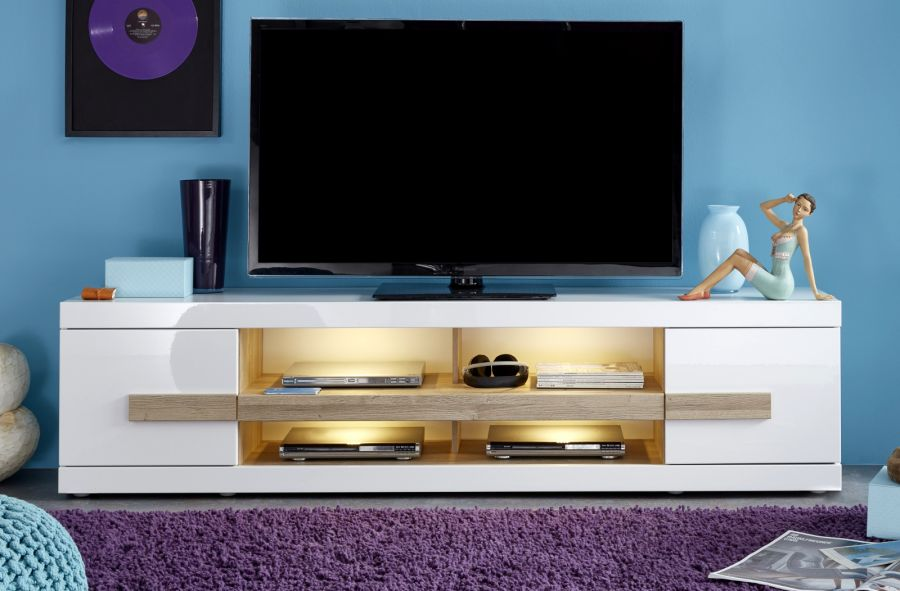 tv unterteil lowboard ultra hochglanz wei. Black Bedroom Furniture Sets. Home Design Ideas