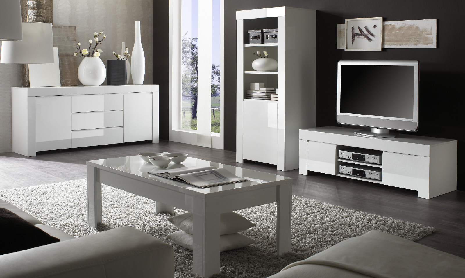couchtisch in wei hochglanz lack italien livorno. Black Bedroom Furniture Sets. Home Design Ideas