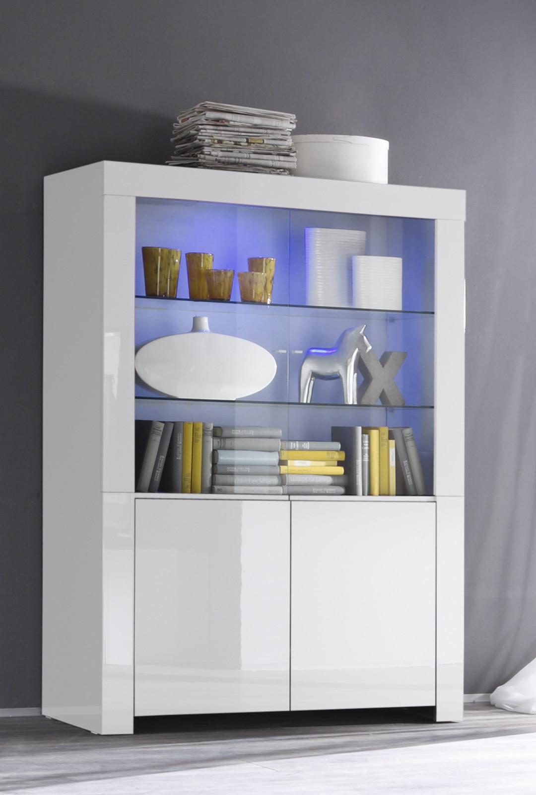 vitrine in wei hochglanz lack italien livorno. Black Bedroom Furniture Sets. Home Design Ideas