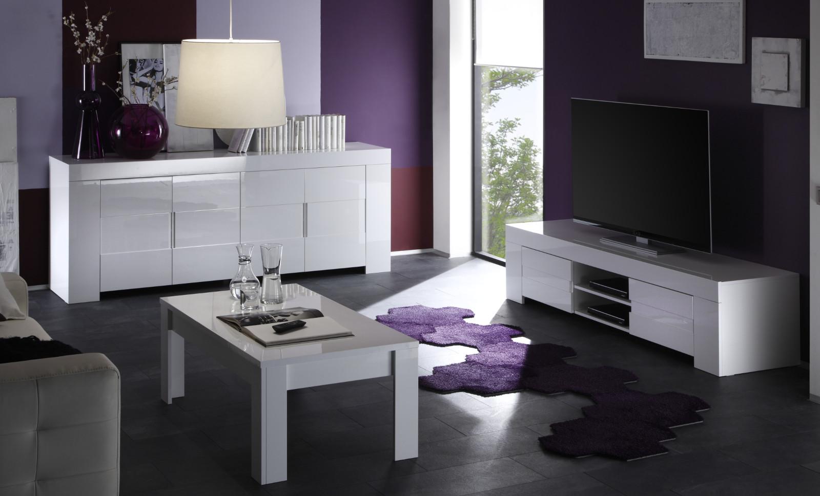 sideboard in wei hochglanz lack italien vienda. Black Bedroom Furniture Sets. Home Design Ideas