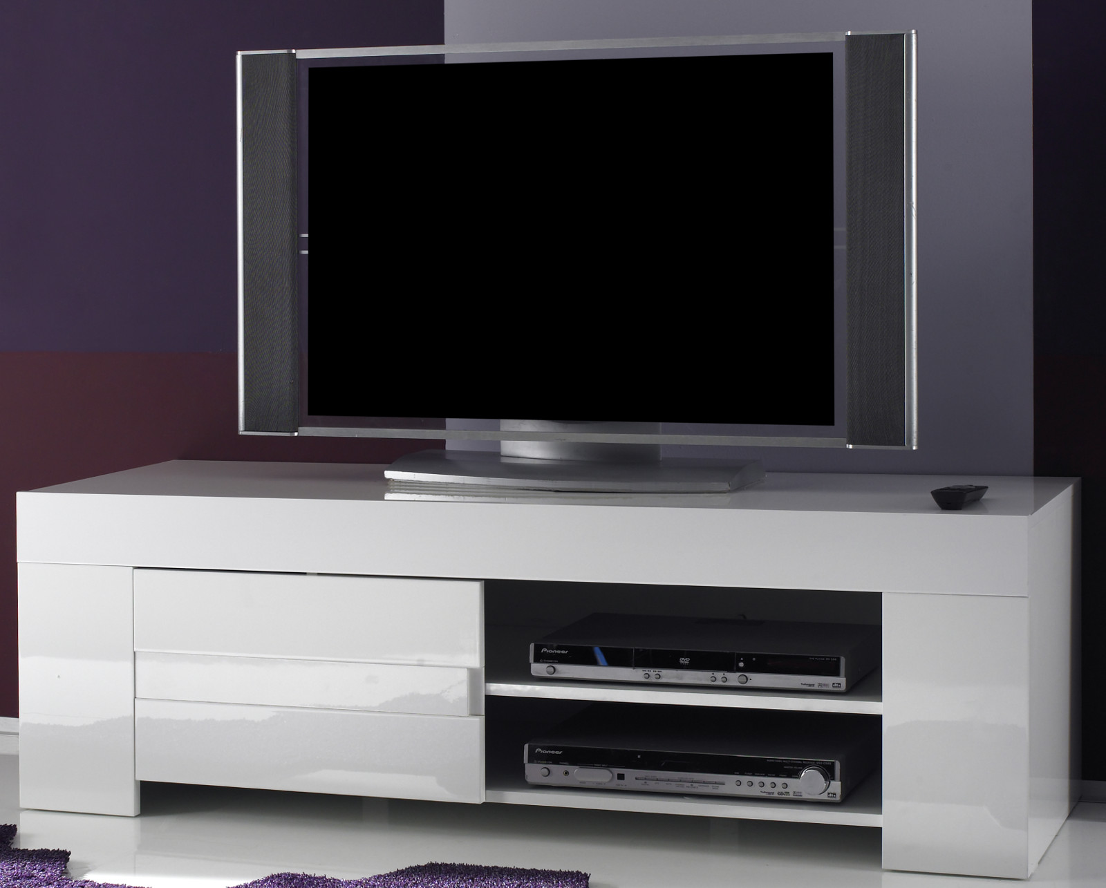 tv unterteil in wei hochglanz lack italien vienda. Black Bedroom Furniture Sets. Home Design Ideas
