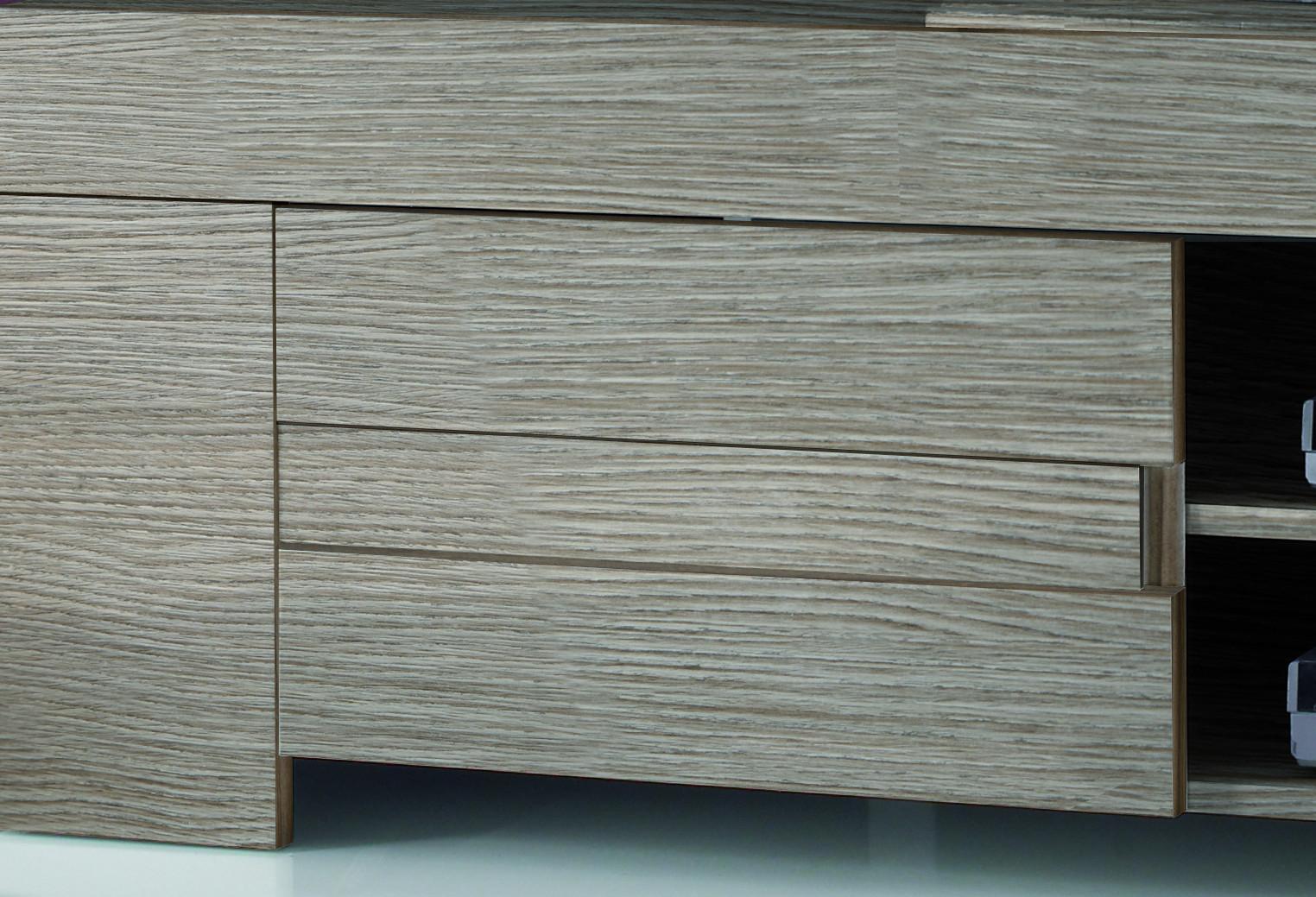 tv unterteil in eiche grau lack italien vienda. Black Bedroom Furniture Sets. Home Design Ideas
