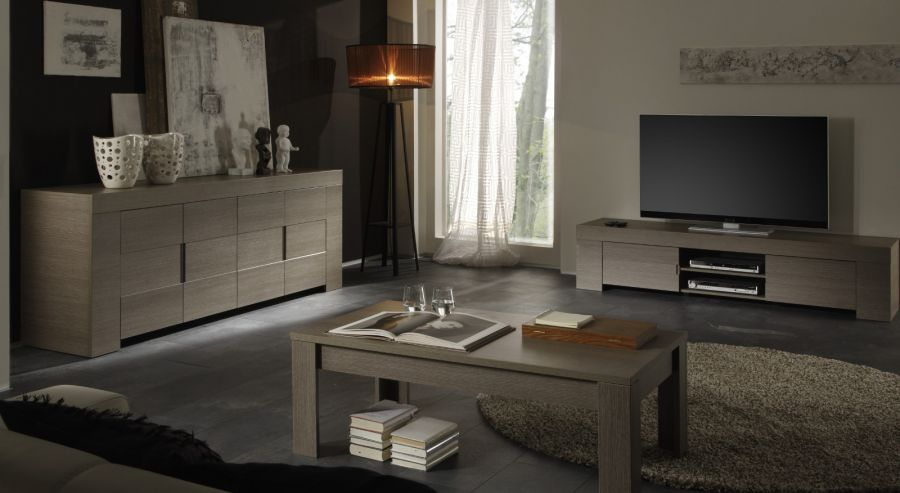 couchtisch in eiche grau dekor italien vienda. Black Bedroom Furniture Sets. Home Design Ideas