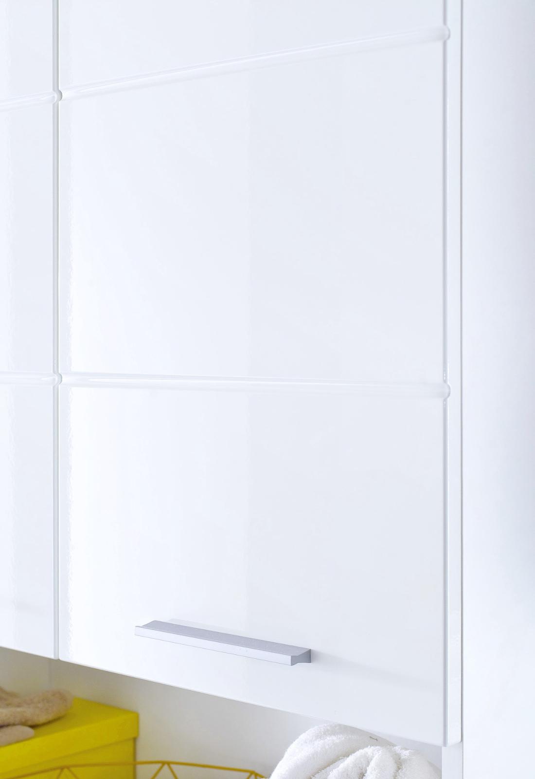 Badezimmer Hängeschrank Amanda in weiß Hochglanz