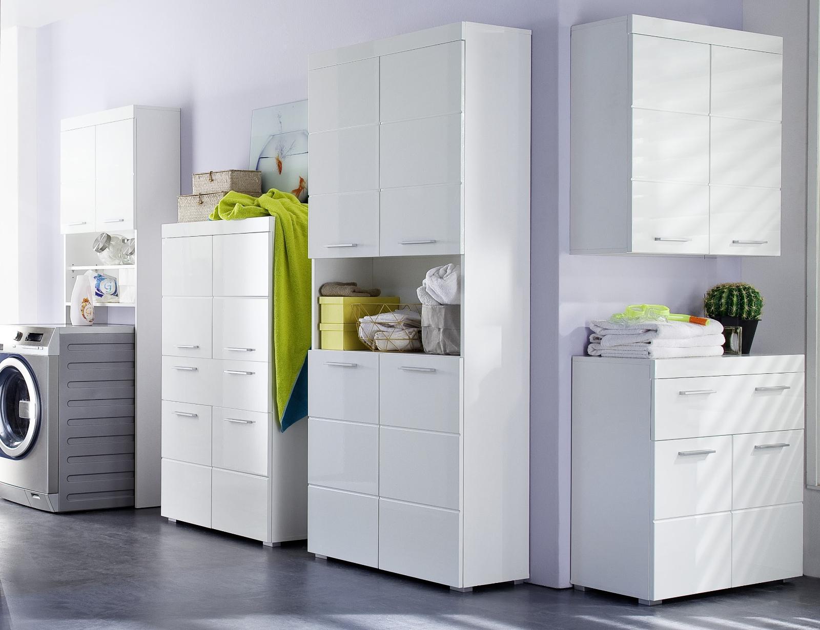 badezimmer h ngeschrank amanda in wei hochglanz. Black Bedroom Furniture Sets. Home Design Ideas