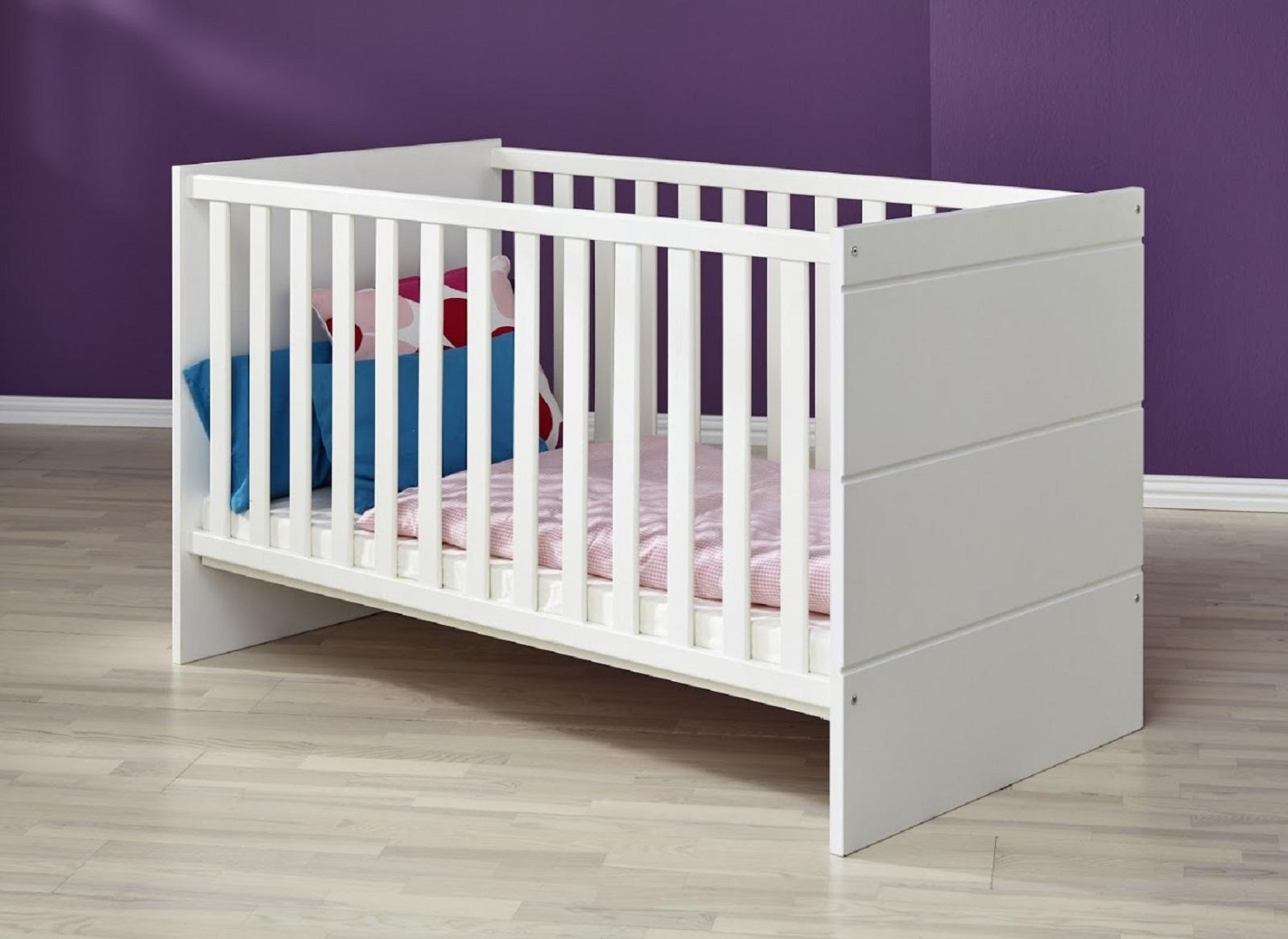 Babyzimmer komplett Set Luca-S in matt weiß 3-teilig