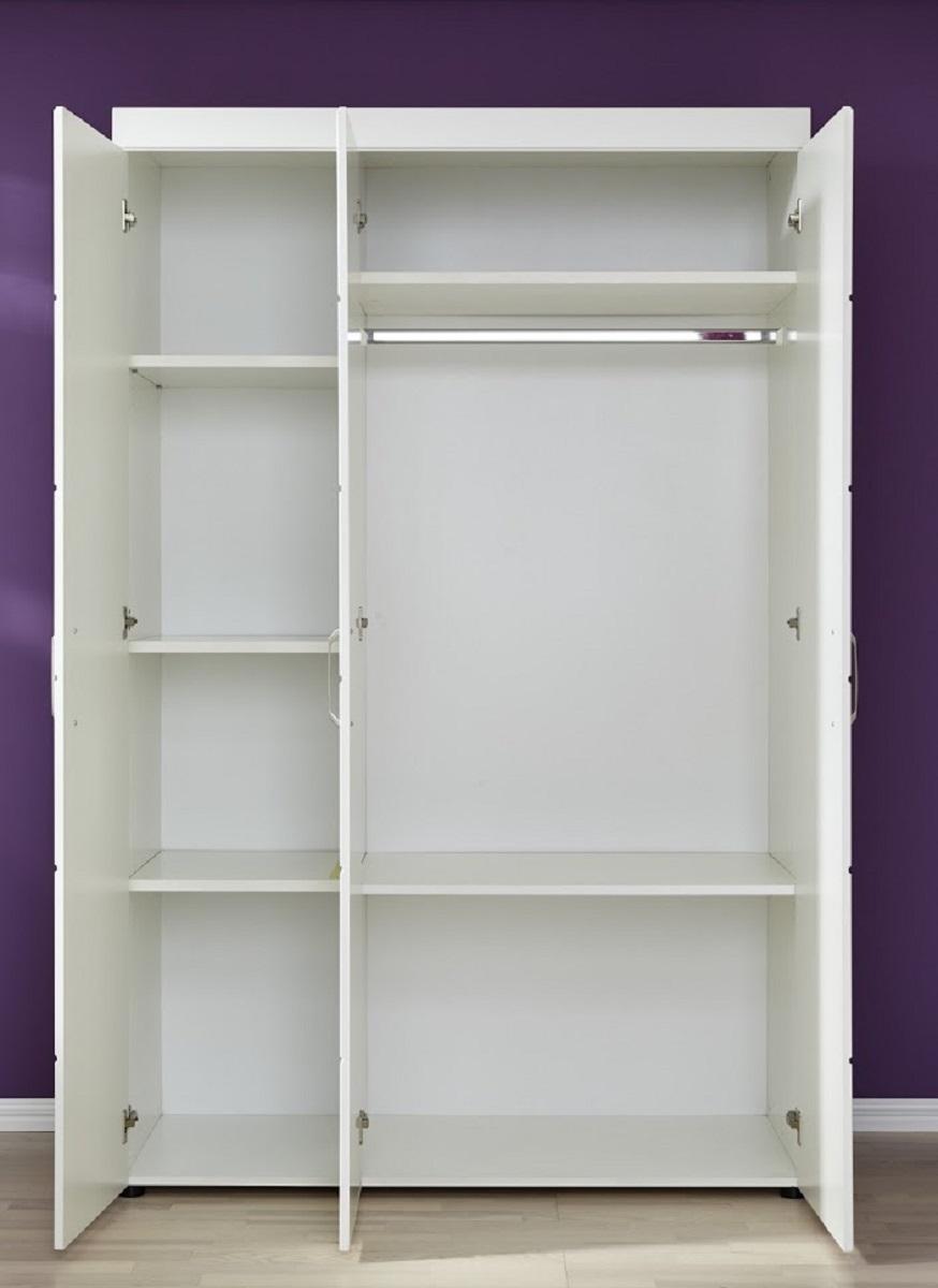 babyzimmer kleiderschrank luca s in matt wei. Black Bedroom Furniture Sets. Home Design Ideas