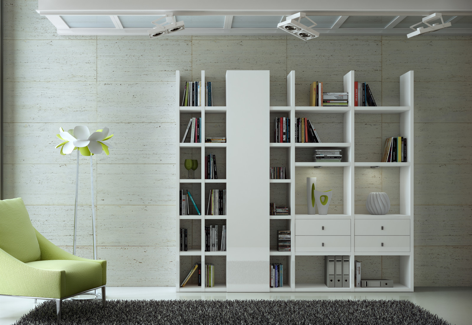 Schreibtisch Büro Modern ~ Modernes Büro in weiß individuell planbar, auch in anderen