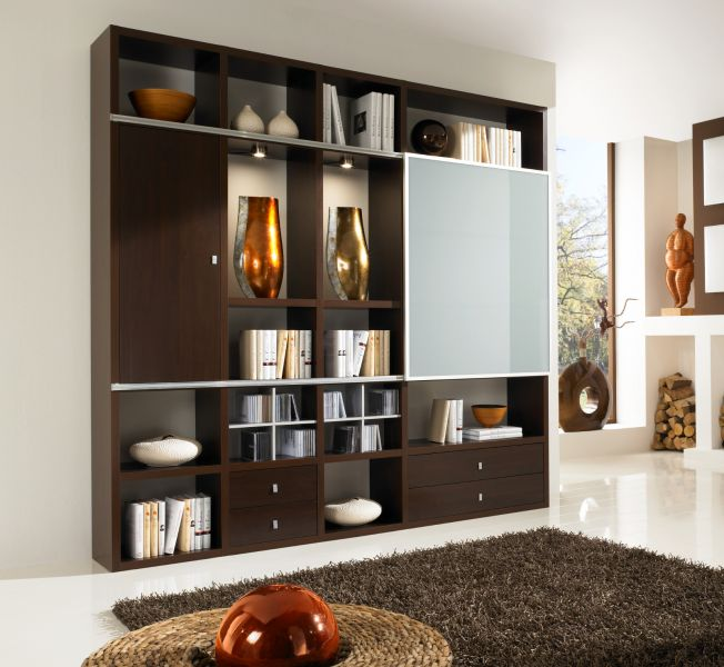 wohnwand b cherwand bibliothek wenge. Black Bedroom Furniture Sets. Home Design Ideas