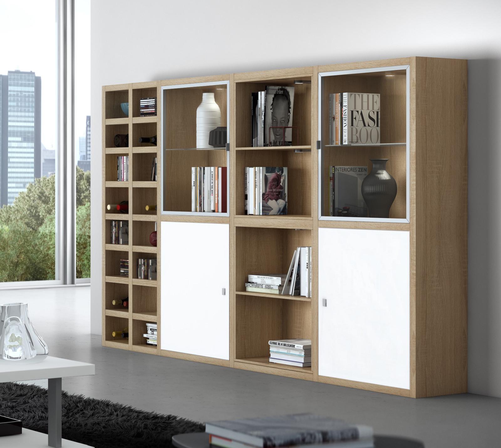 Wohnzimmermöbel weiß hochglanz  Wohnwand Schrankwand Wei Hochglanz. Elegant Modular Storage Wall ...