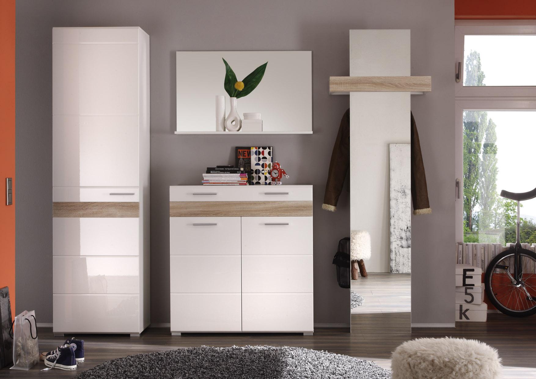 garderobe mezzo wei hochglanz online kaufen. Black Bedroom Furniture Sets. Home Design Ideas