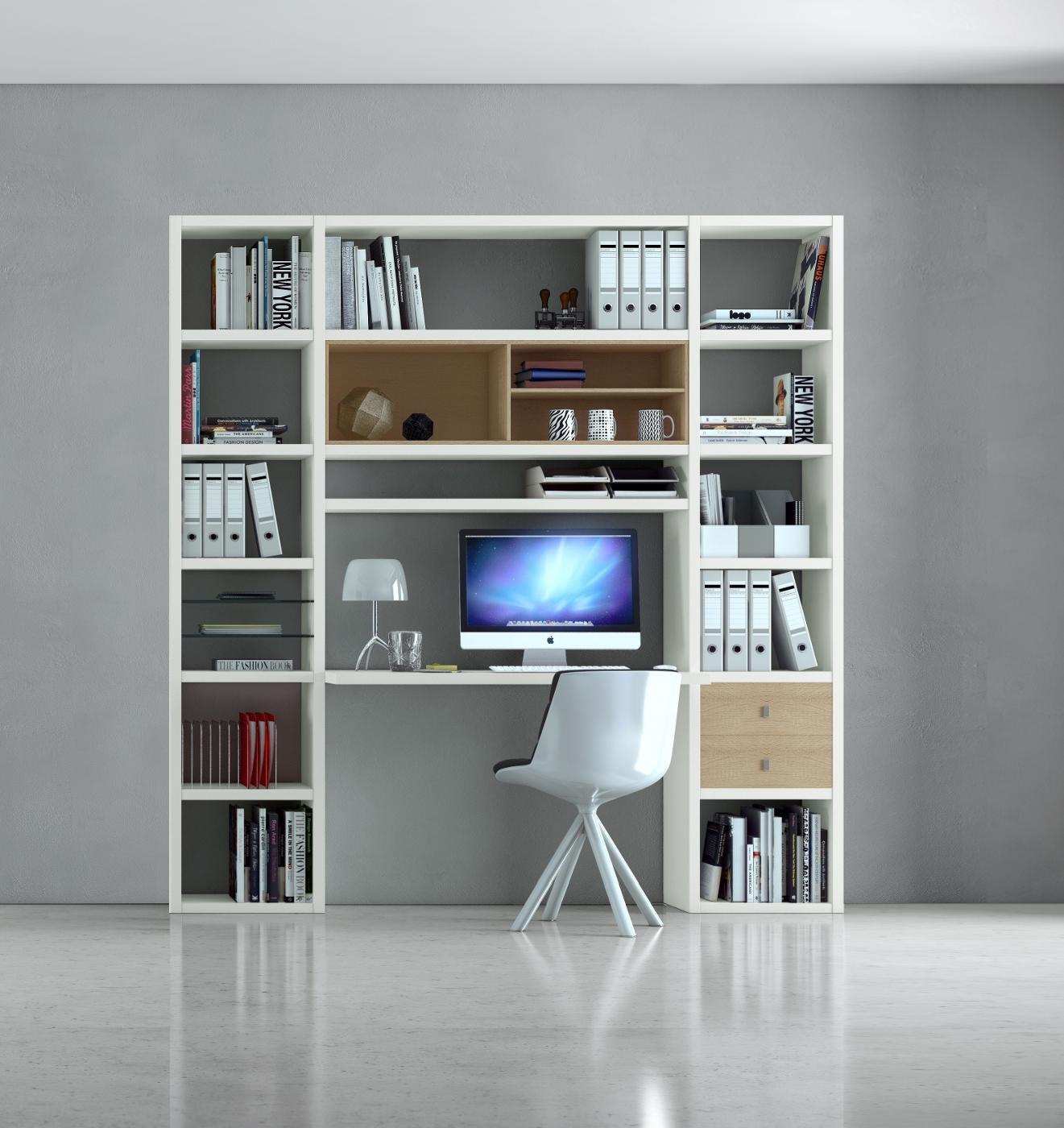 b rowand homeoffice mit schreibtisch eiche wei. Black Bedroom Furniture Sets. Home Design Ideas