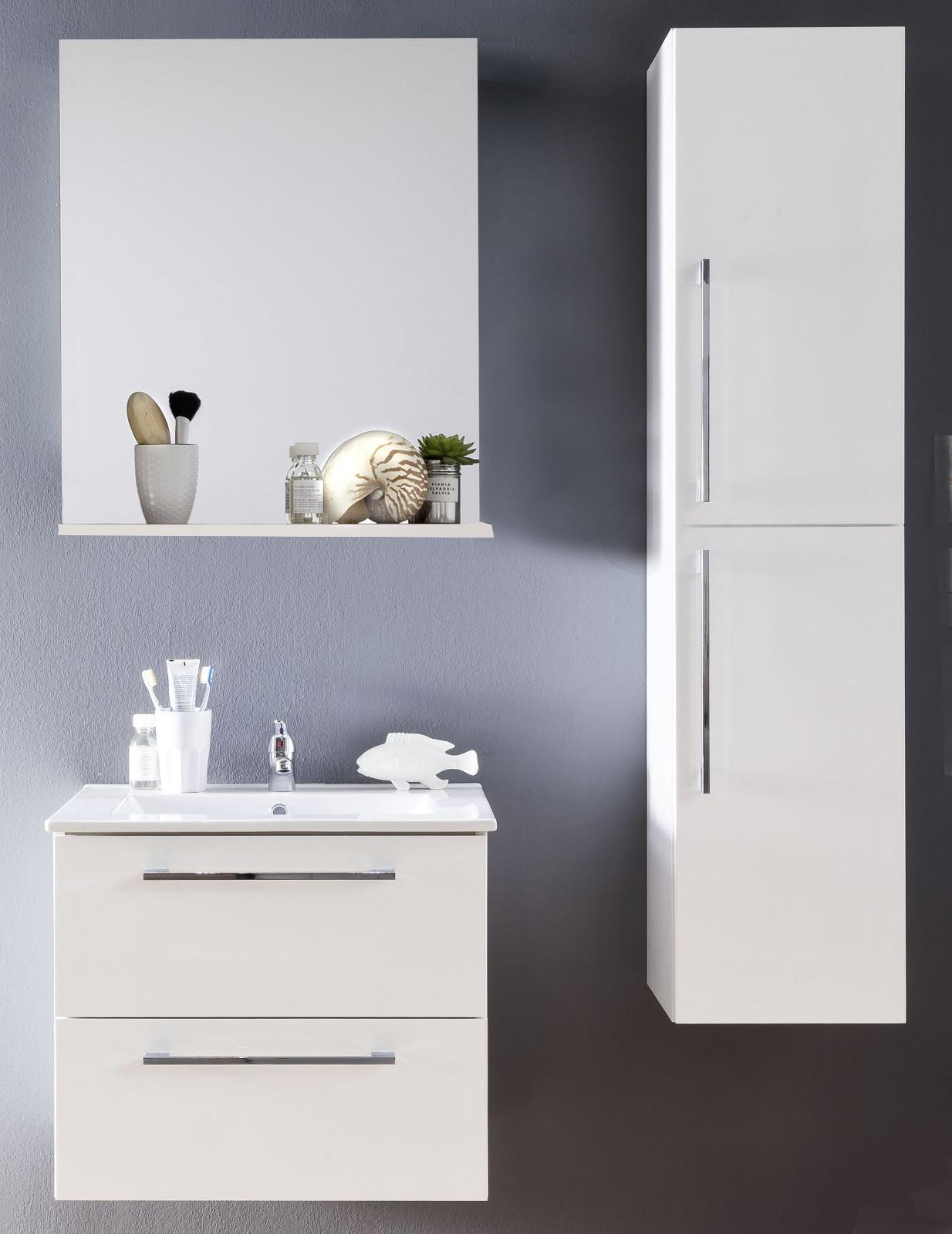 badm bel set intenso wei 3 teilig inkl waschbecken. Black Bedroom Furniture Sets. Home Design Ideas