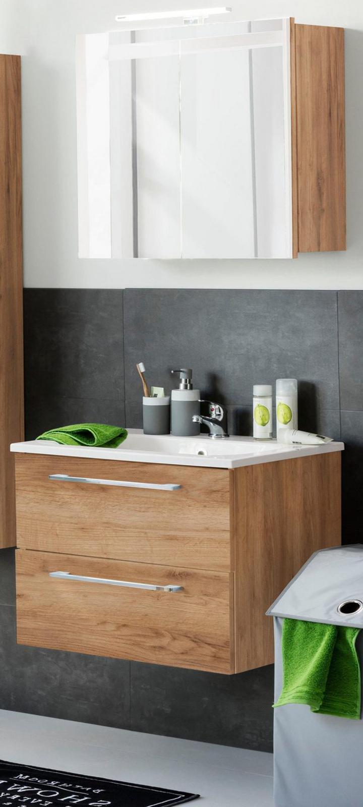 badm bel set intenso eiche tr ffel 2 teilig. Black Bedroom Furniture Sets. Home Design Ideas