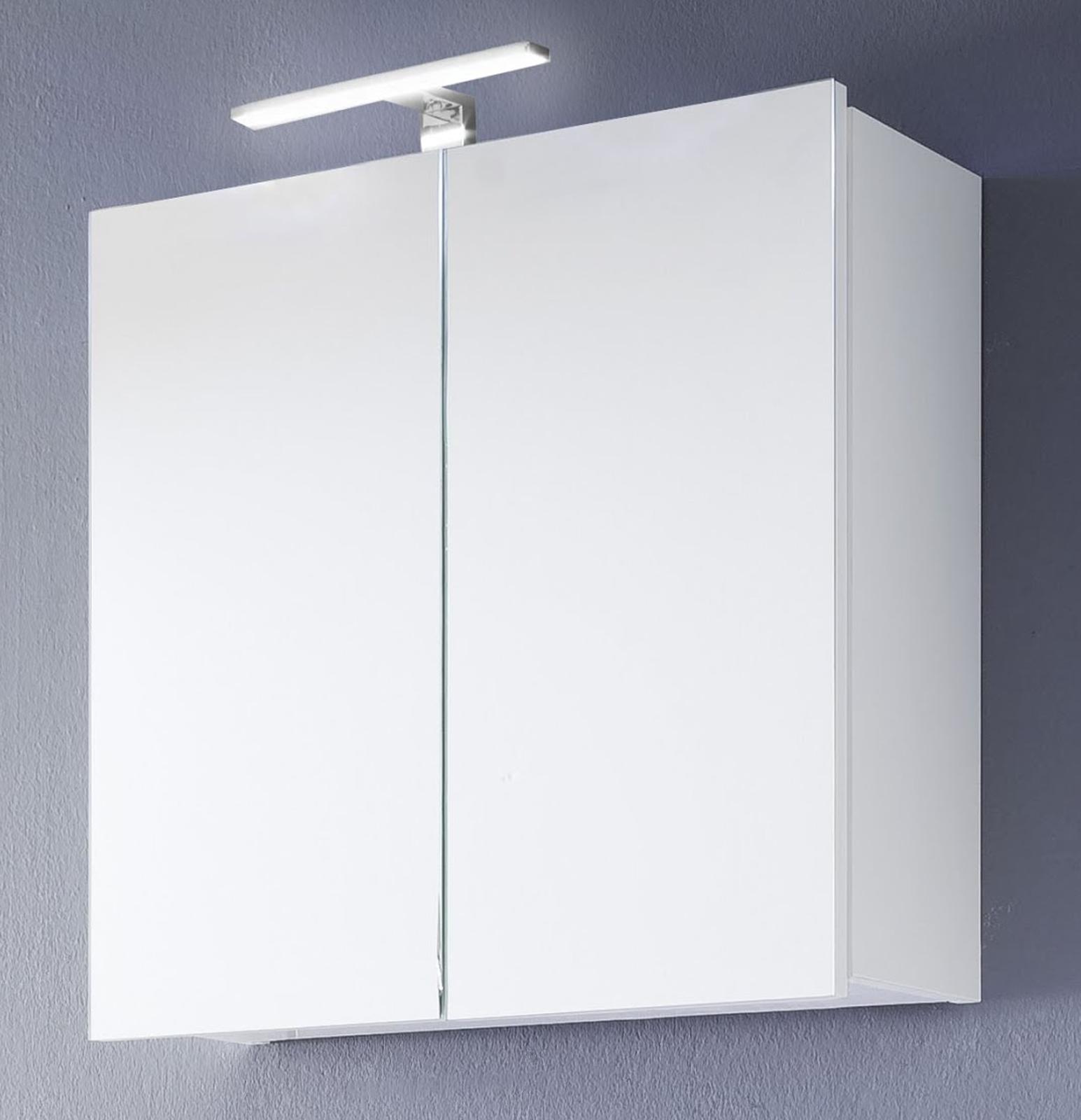 spiegelschrank badm bel intenso hochglanz wei 60x60 cm
