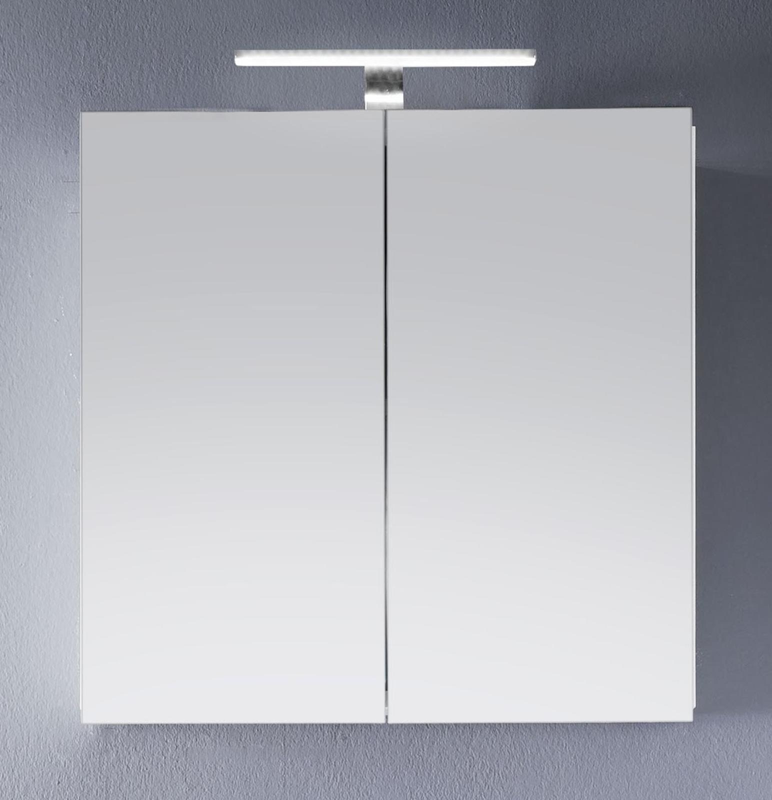 Spiegelschrank Badmobel Intenso Hochglanz Weiss 60x60 Cm
