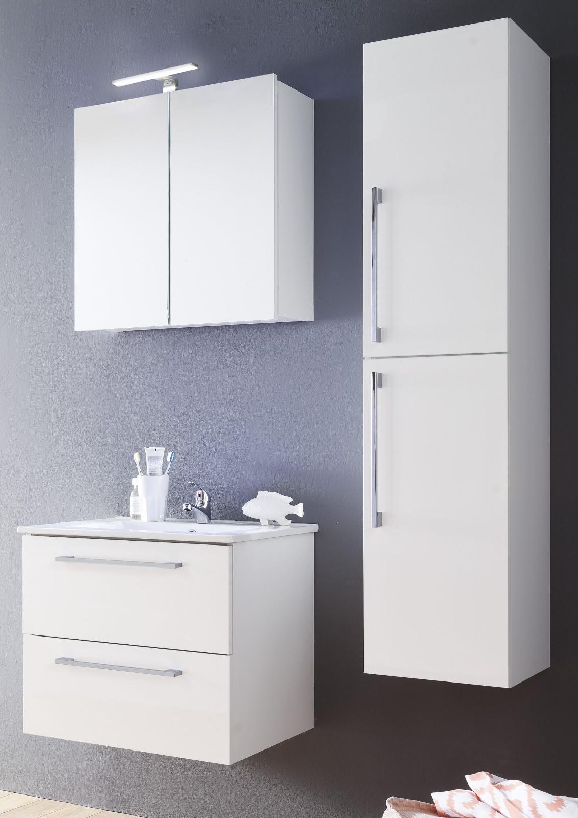 spiegelschrank badm bel intenso hochglanz wei 60x60 cm. Black Bedroom Furniture Sets. Home Design Ideas