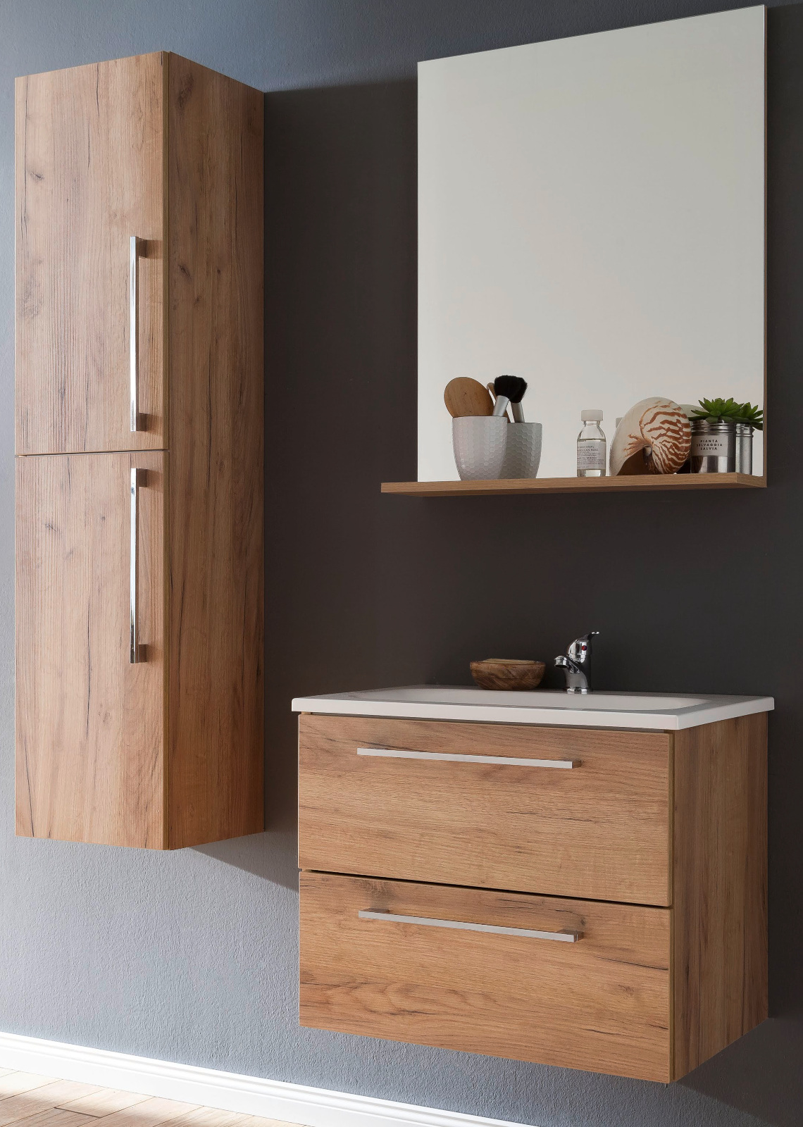 bad h ngeschrank intenso eiche tr ffel 32x140 cm. Black Bedroom Furniture Sets. Home Design Ideas