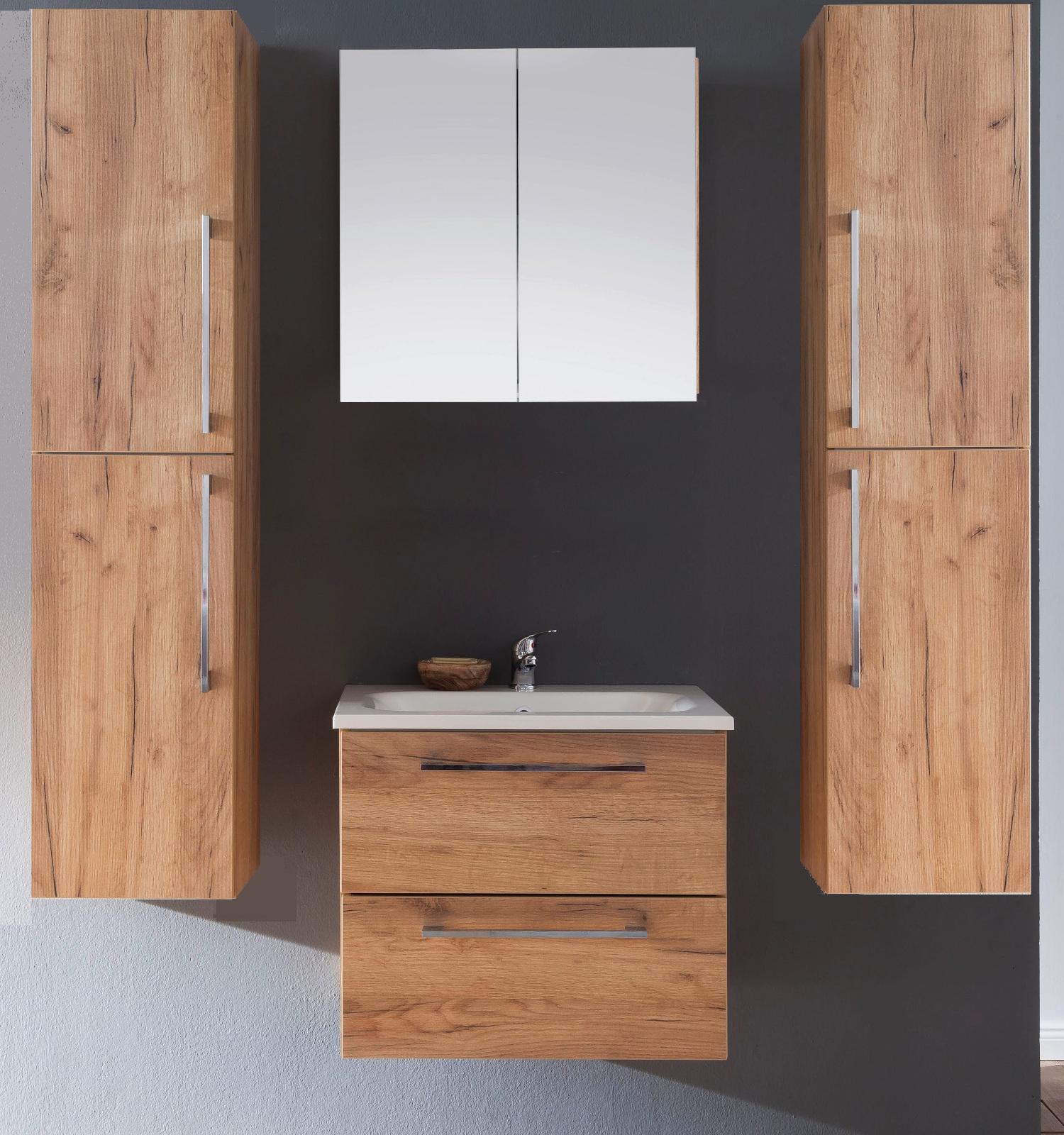 Spiegelschrank Badmobel Intenso Eiche Truffel 60x60 Cm