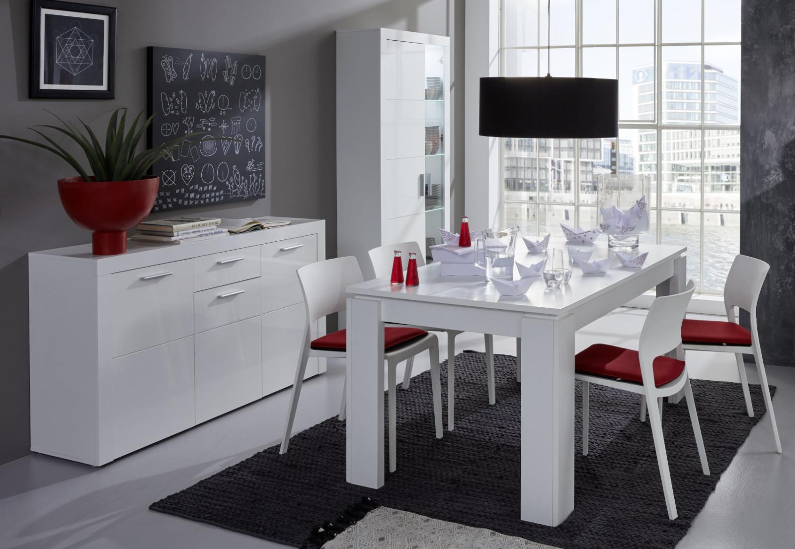vitrinenschrank kito hochglanz wei 81 x 200 cm. Black Bedroom Furniture Sets. Home Design Ideas