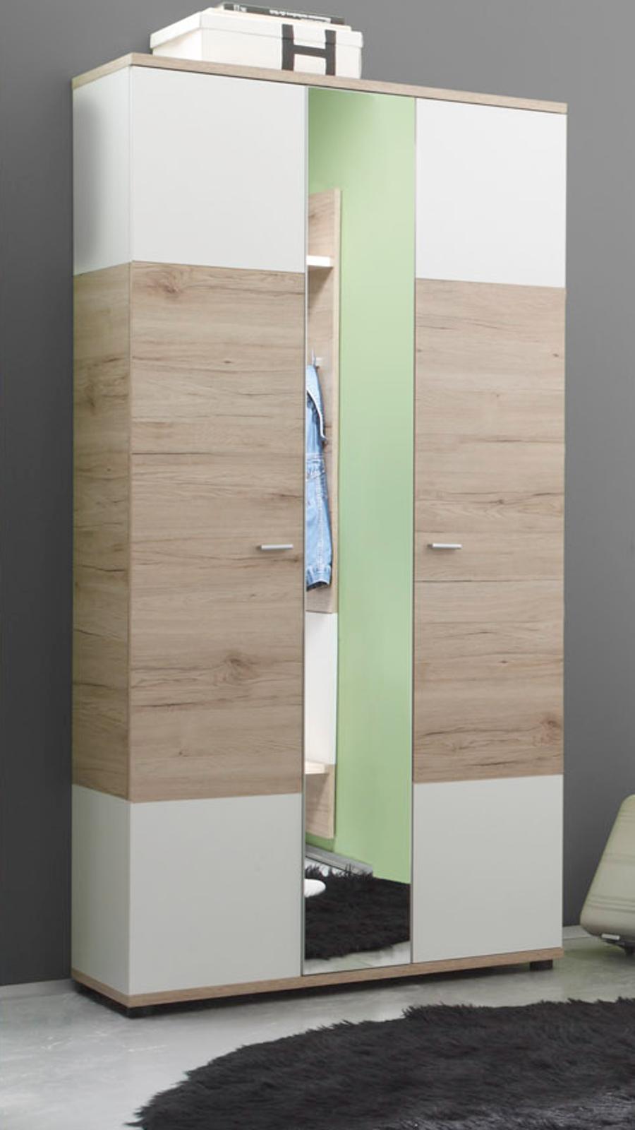 kleiderschrank schrank weiss nussbaum modell juzi breite. Black Bedroom Furniture Sets. Home Design Ideas
