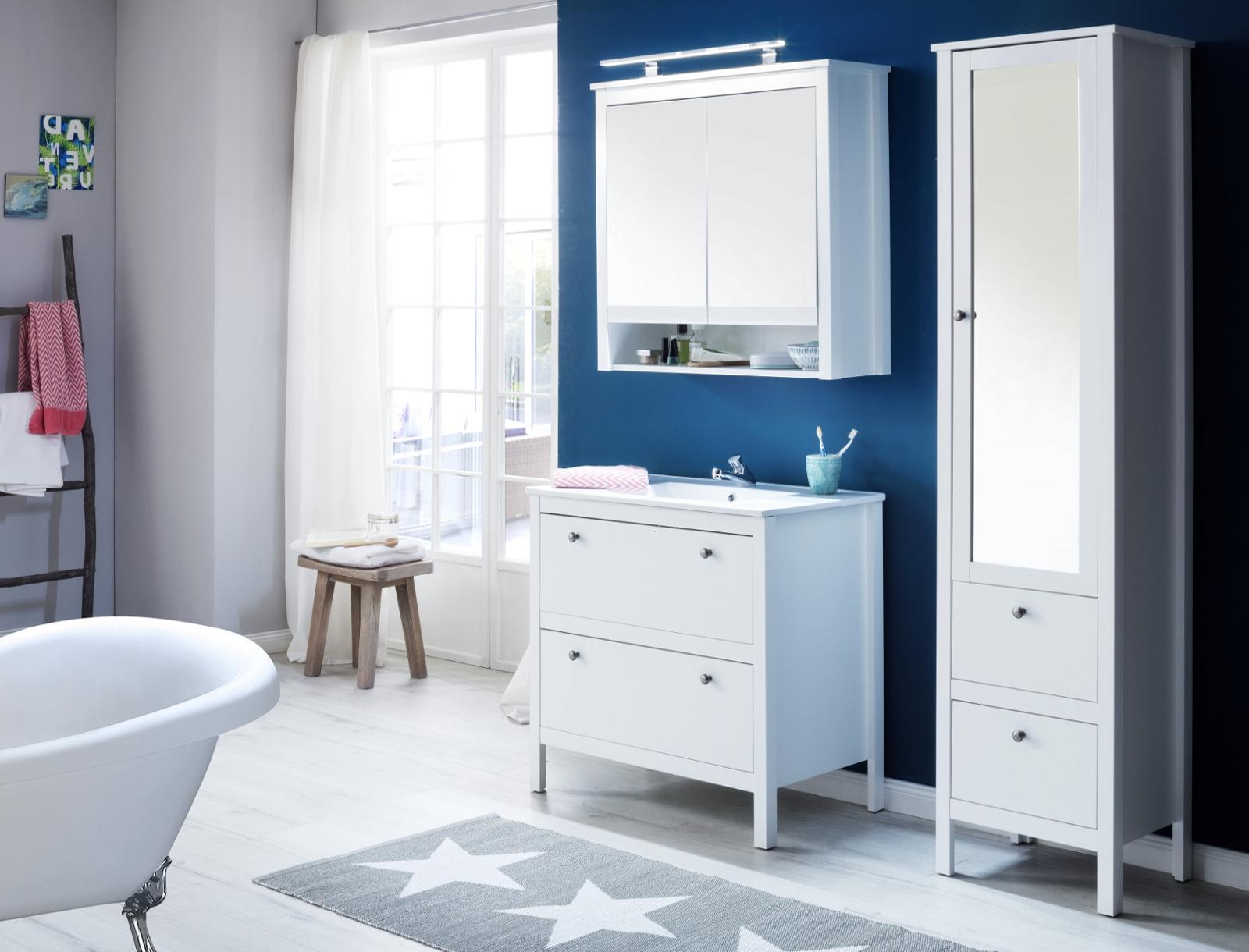 waschbeckenunterschrank ole wei inkl waschbecken. Black Bedroom Furniture Sets. Home Design Ideas