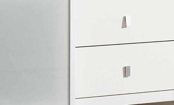 wohnwand b cherwand mediawand lack wei eiche. Black Bedroom Furniture Sets. Home Design Ideas