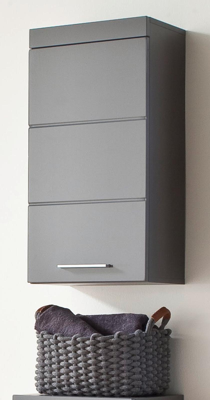 badm bel h ngeschrank amanda in hochglanz grau. Black Bedroom Furniture Sets. Home Design Ideas
