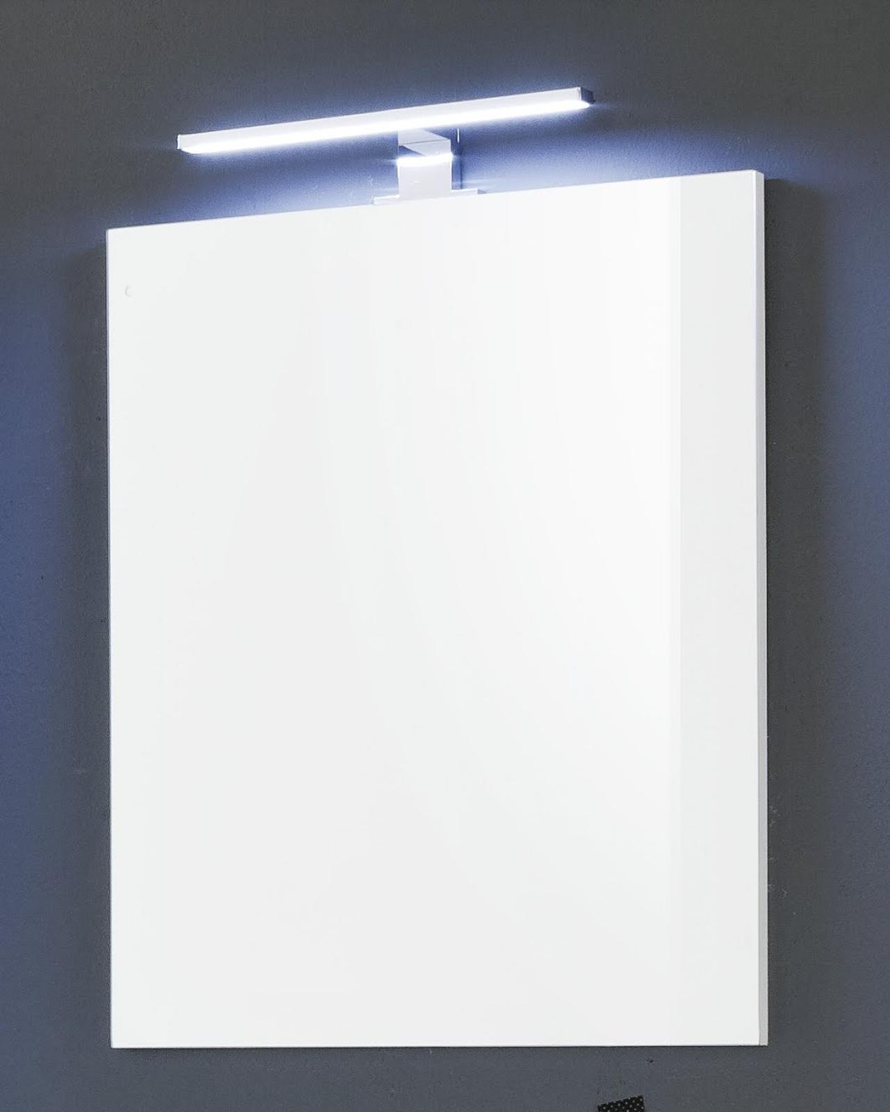 Badspiegel Jersey In Weiss Optional Led Ansatzleuchte