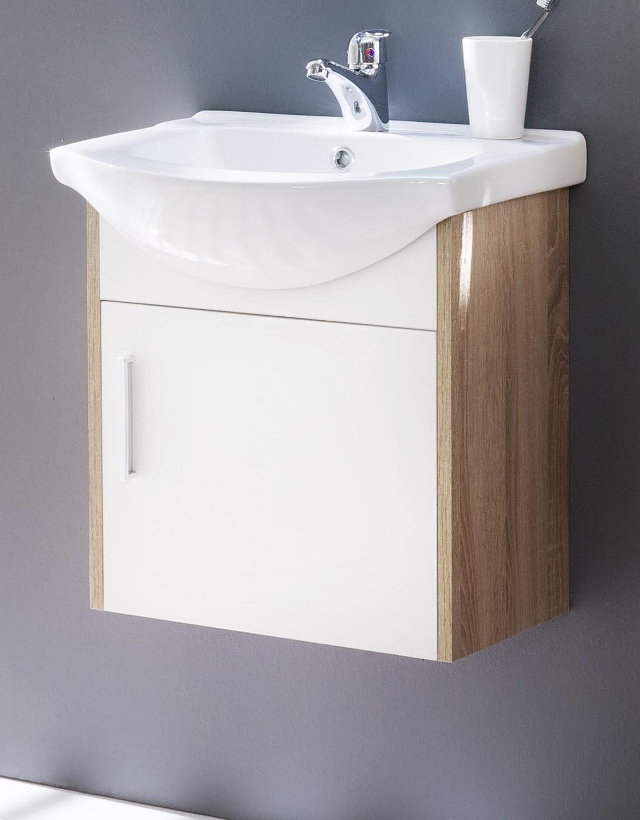 waschbeckenunterschrank jersey wei und eiche s gerau. Black Bedroom Furniture Sets. Home Design Ideas