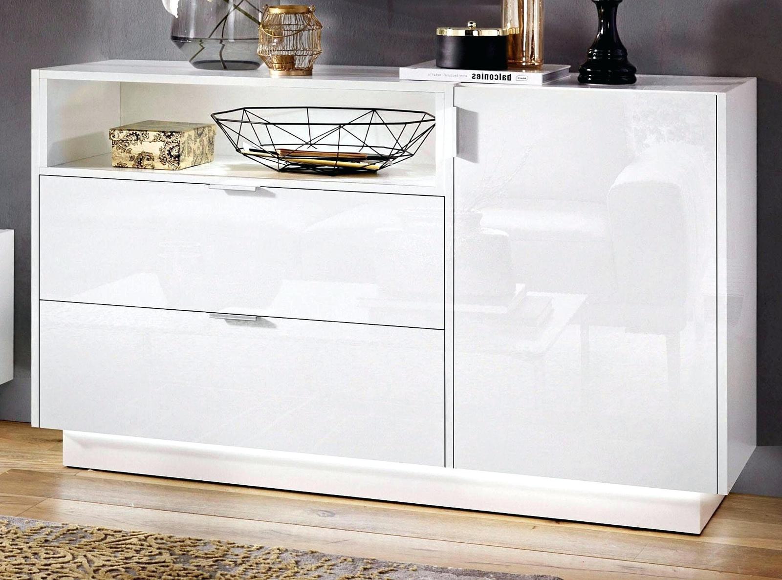 kommode in hochglanz wei sideboard und anrichte 120 cm tv fernseh m bel atlanta ebay. Black Bedroom Furniture Sets. Home Design Ideas