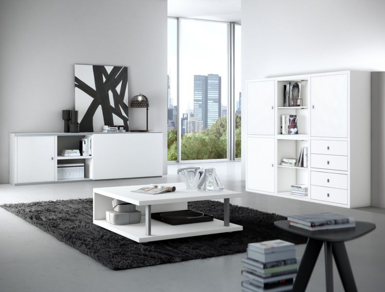highboard lack wei matt. Black Bedroom Furniture Sets. Home Design Ideas