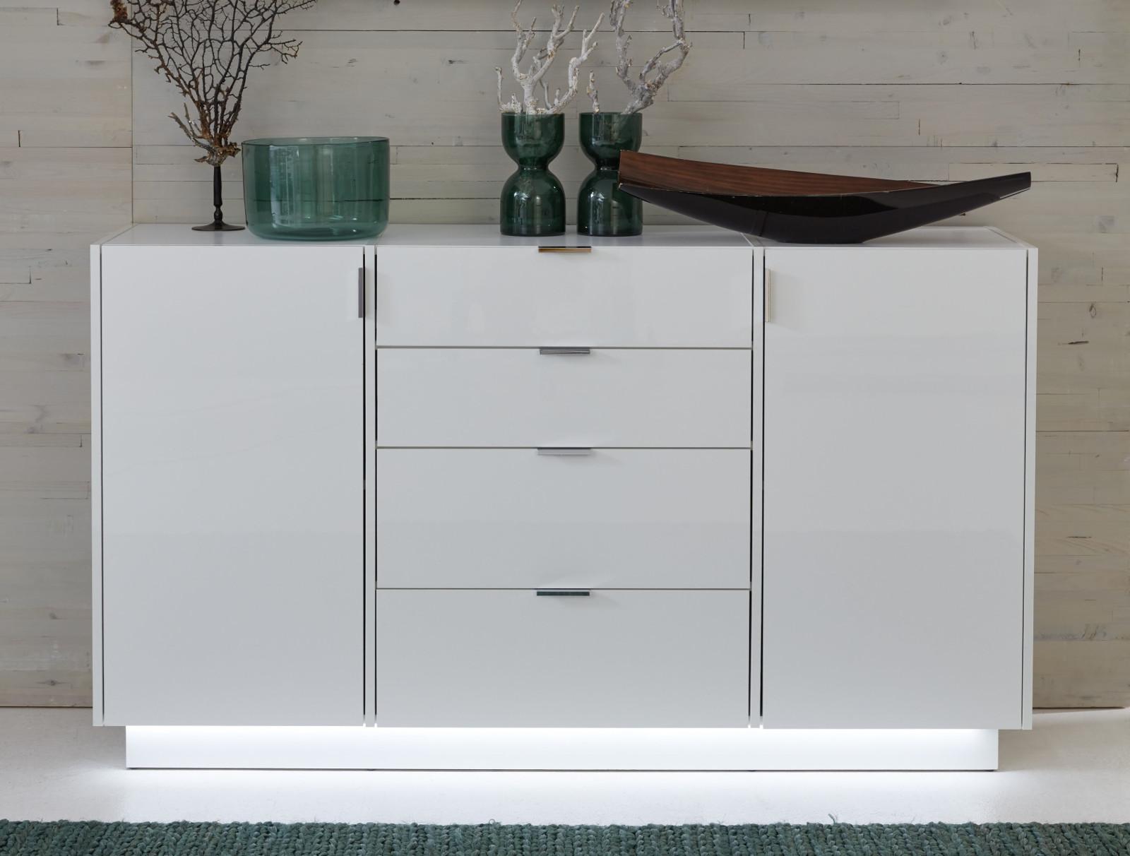 sideboard atlanta in hochglanz wei. Black Bedroom Furniture Sets. Home Design Ideas