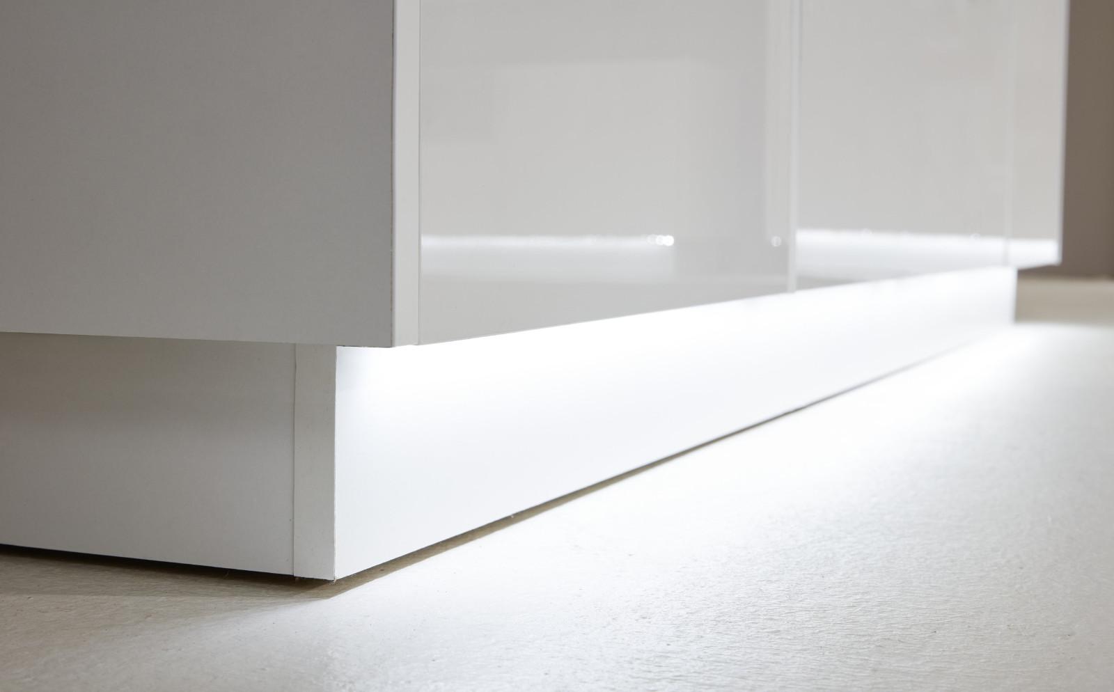 garderobenschrank atlanta hochglanz wei und stone grau. Black Bedroom Furniture Sets. Home Design Ideas