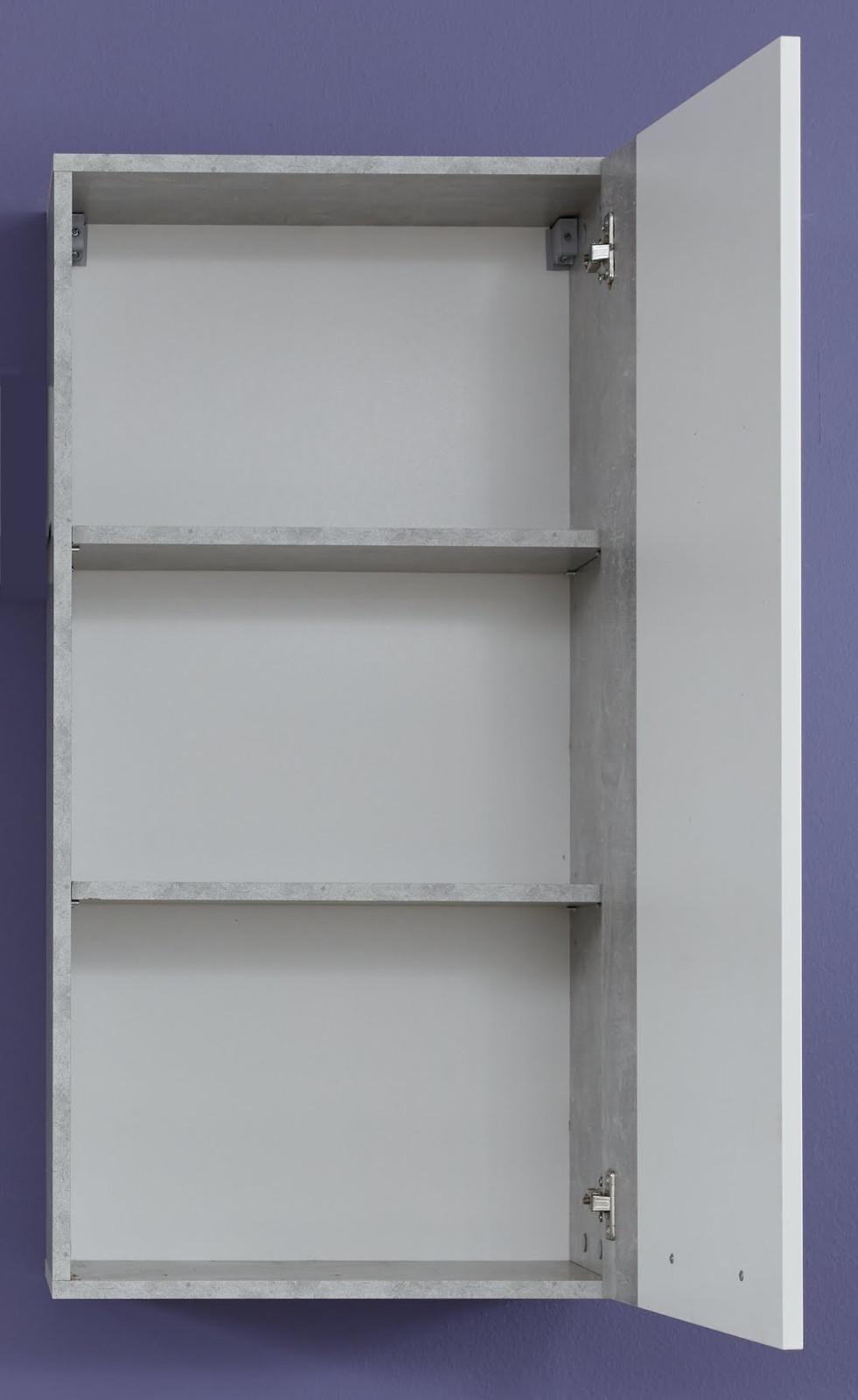 h ngeschrank rock wei hochglanz und stone 52 x 103 cm. Black Bedroom Furniture Sets. Home Design Ideas