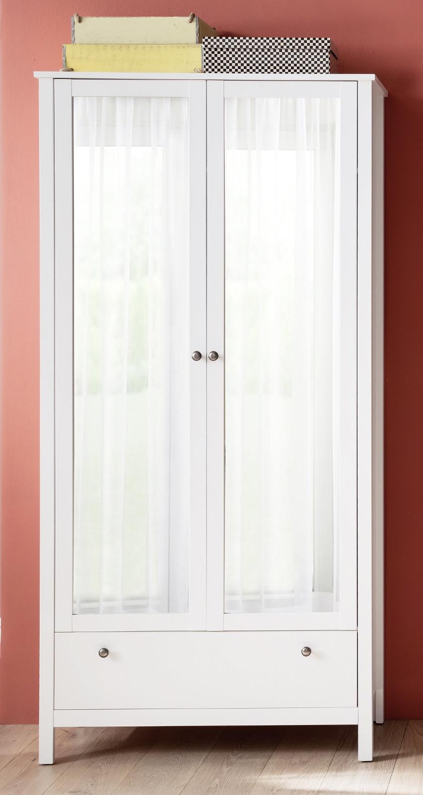 Garderoben Und Schuhschrank Ole Weiß Melamin 92 Cm