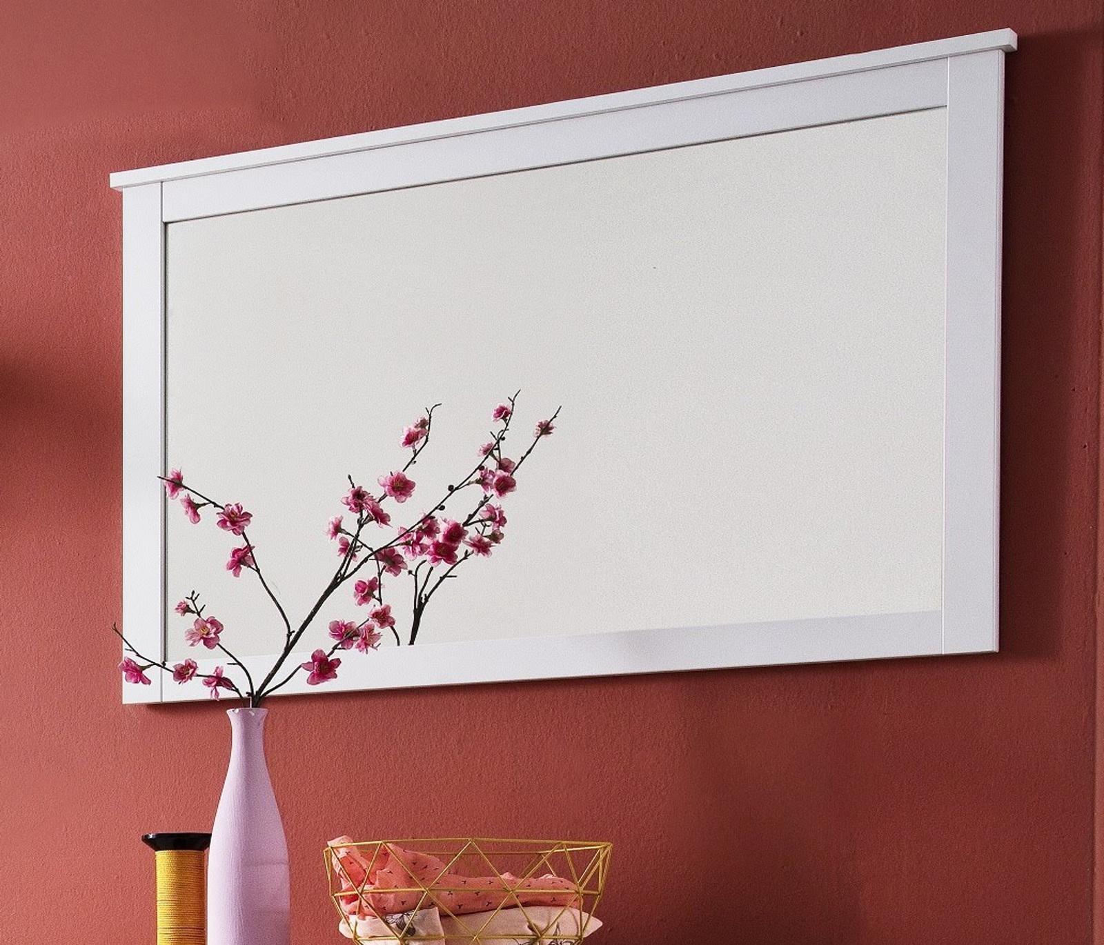 flur spiegel wandspiegel wei garderobenspiegel gross garderobe m bel 91 cm ole ebay. Black Bedroom Furniture Sets. Home Design Ideas