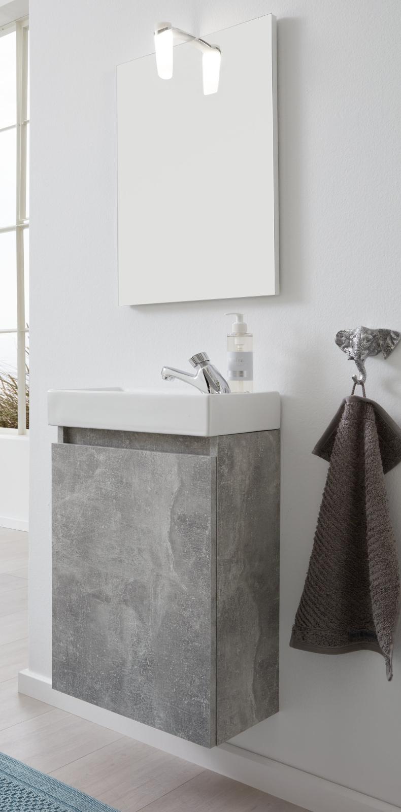 Bad m bel komplett set waschbecken unterschrank spiegel for Waschbecken komplett set