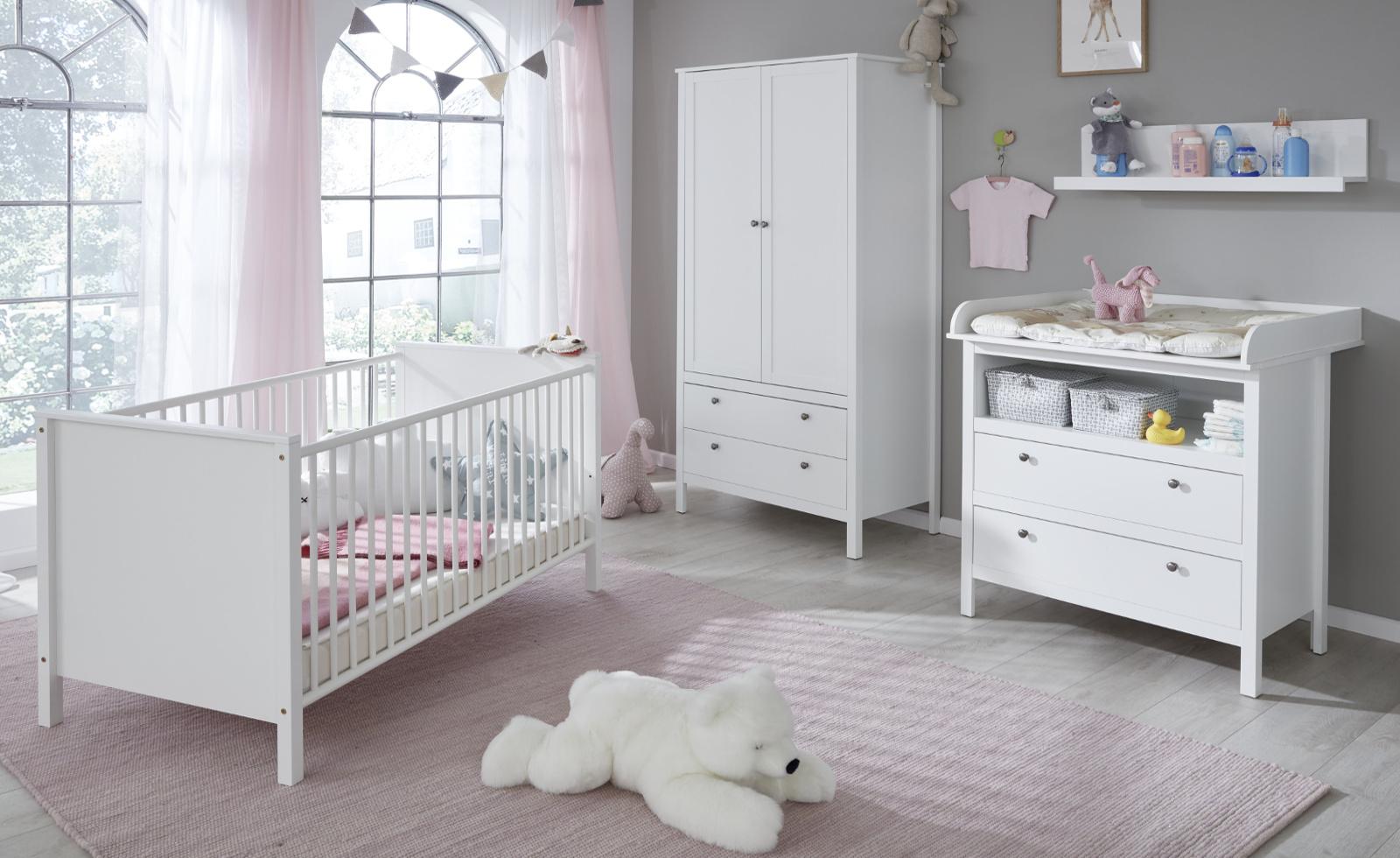 Babyzimmer Ole Komplett Set 4 Teilig Weiss Landhaus