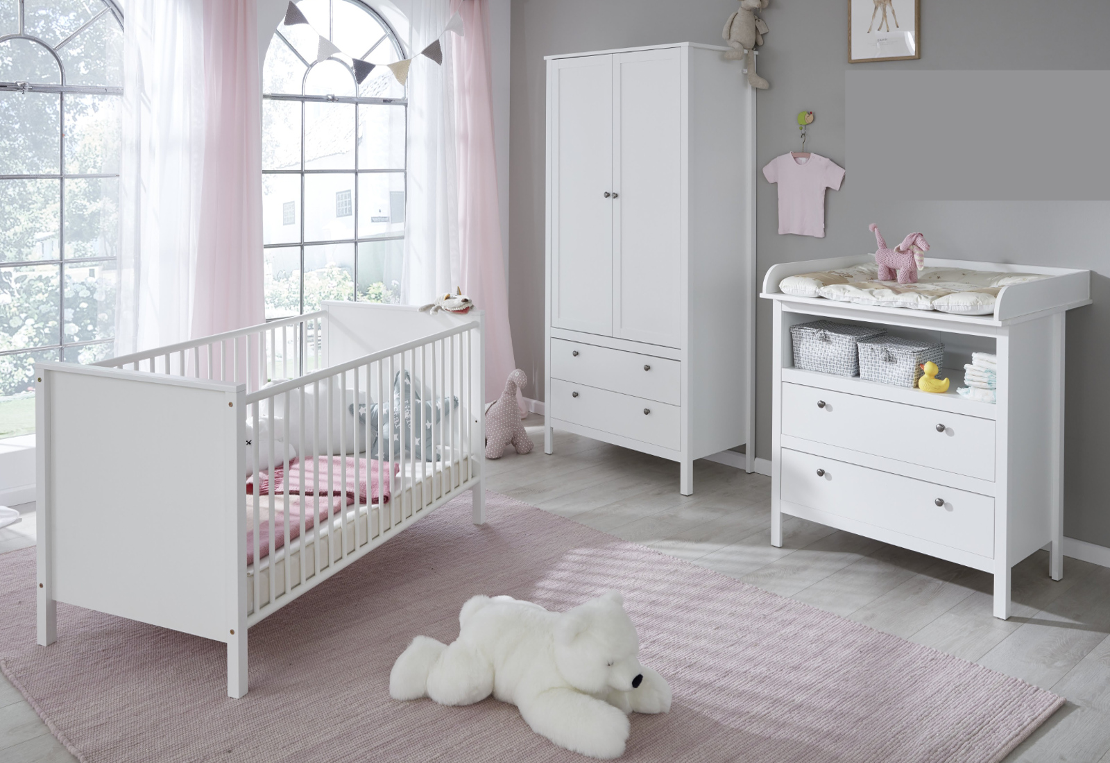 babyzimmer ole komplett set 3 teilig. Black Bedroom Furniture Sets. Home Design Ideas