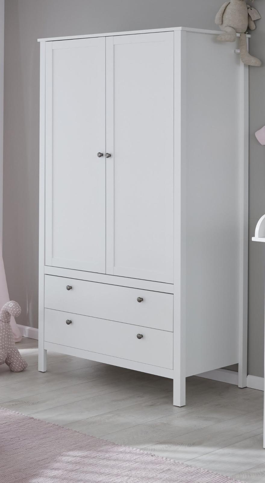 Exquisit Jugendzimmer Kleiderschrank Galerie Von Baby- Und Ole In Weiß 2-türig 91