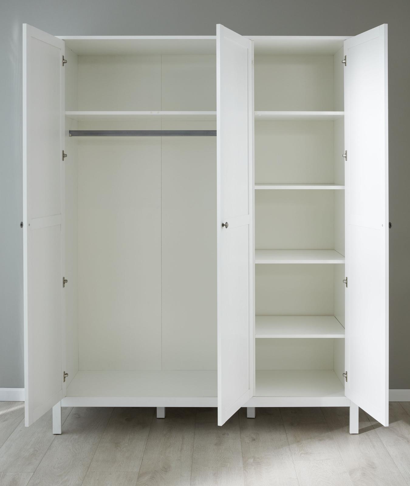 Kinderzimmer Jugendzimmer Komplett Set Ole 4 Teilig In Landhaus Weiß Mit Bett Schrank Schreibtisch Und Nachttisch