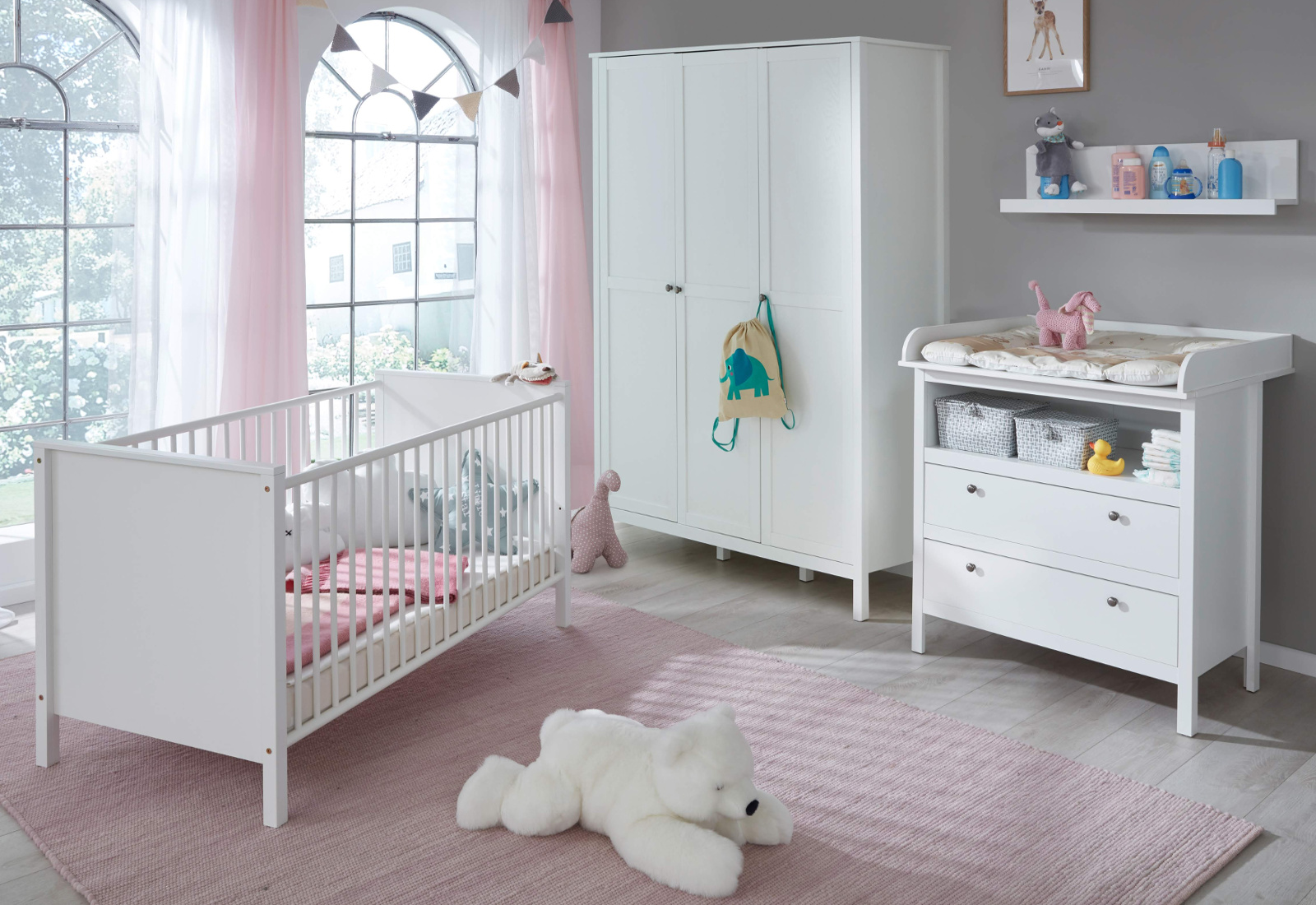 babyzimmer ole komplett set 4 teilig. Black Bedroom Furniture Sets. Home Design Ideas